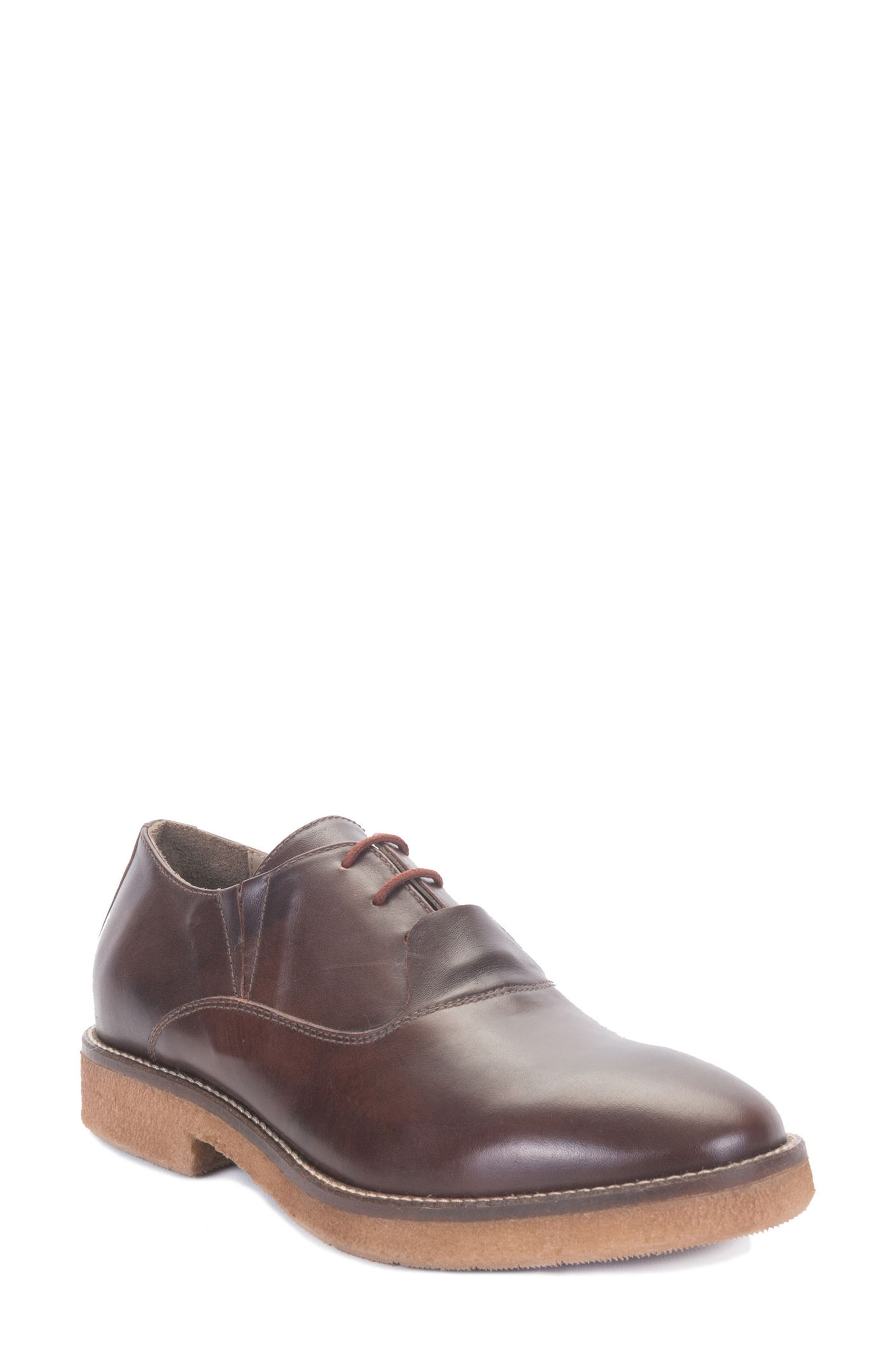 Molinella Water-Resistant Oxford,                             Main thumbnail 1, color,                             Ruggine Leather