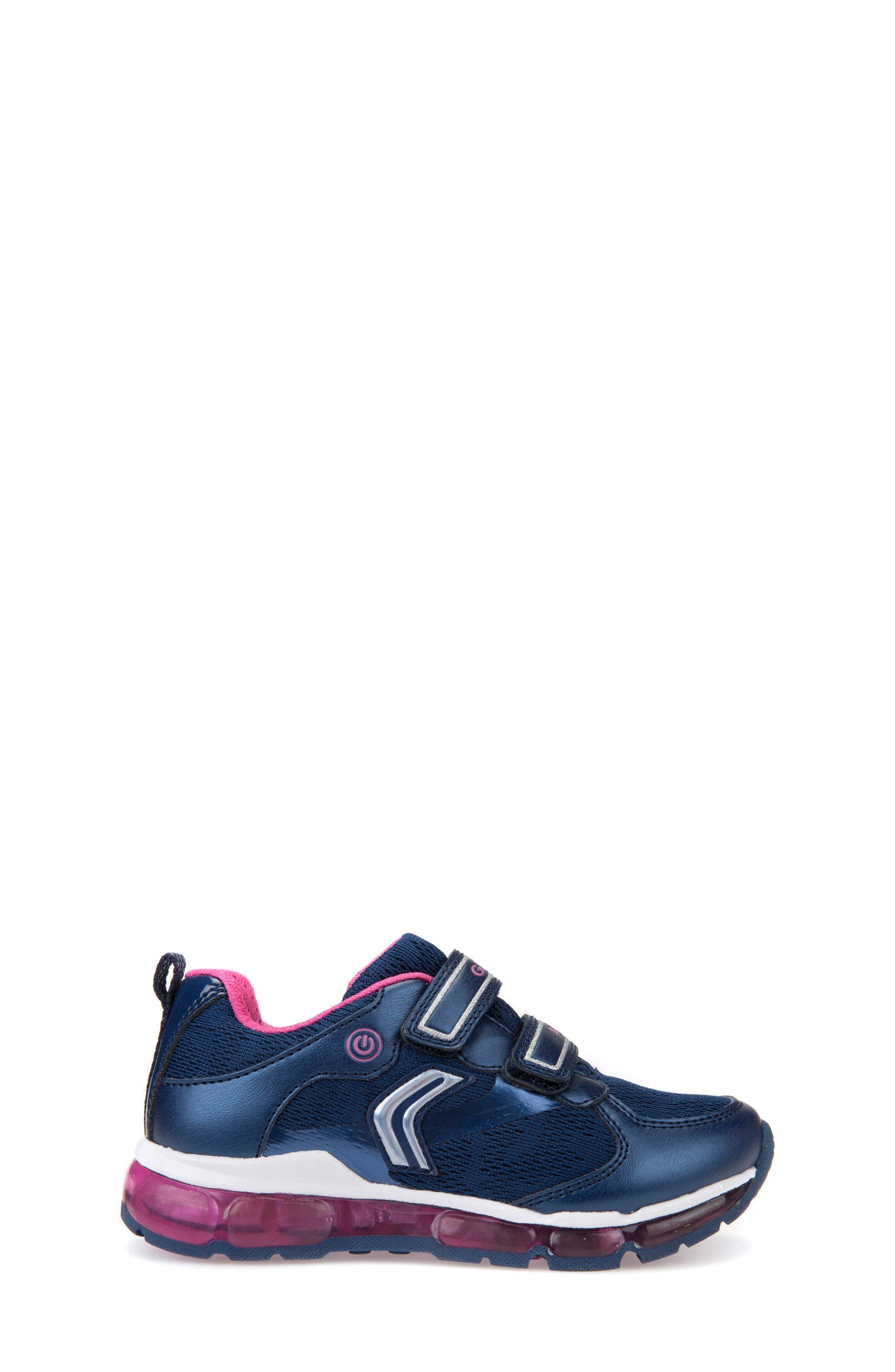 Android Light-Up Sneaker,                             Alternate thumbnail 3, color,                             Navy/ Fuchsia