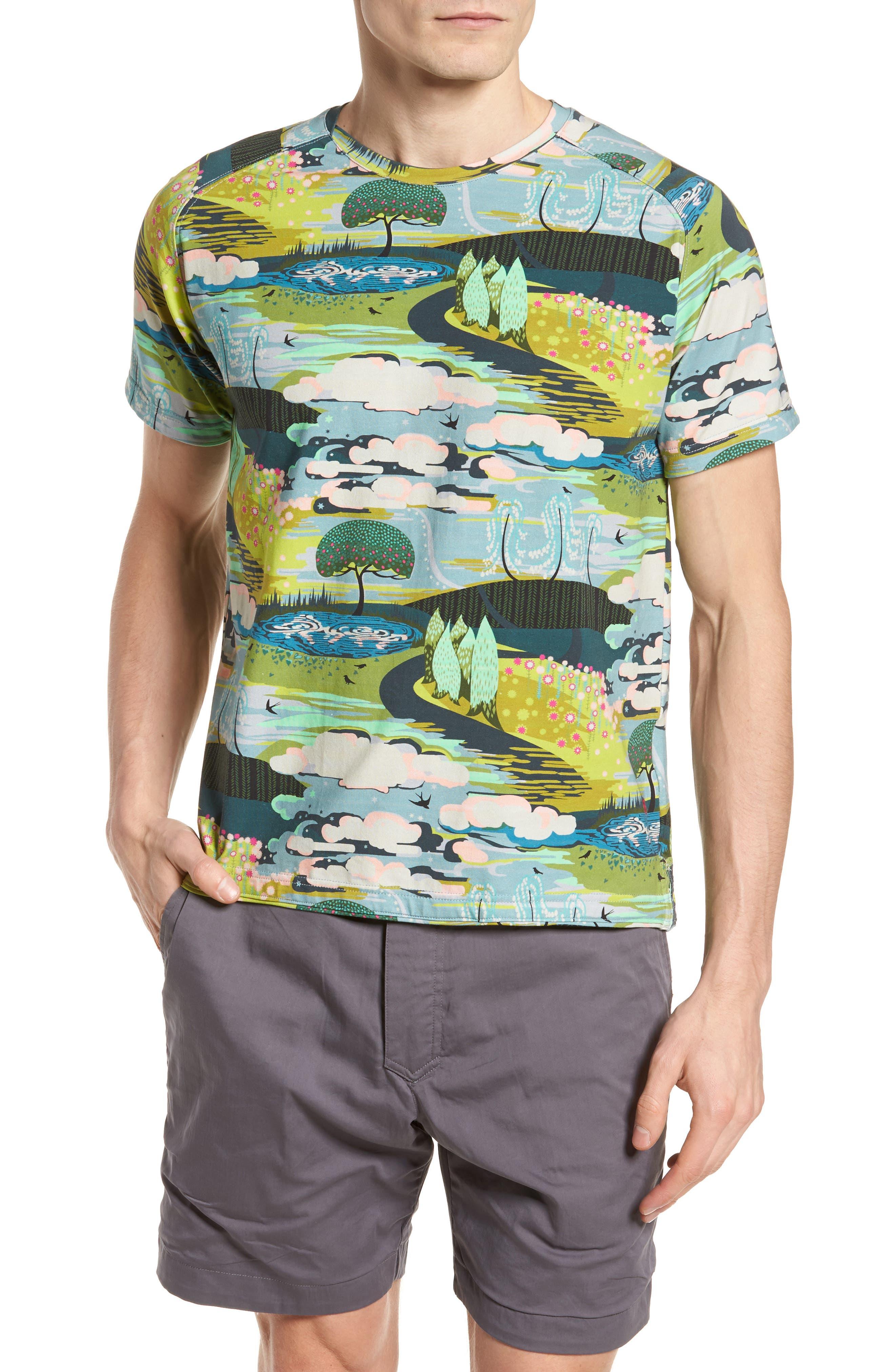 Lost Dream Print T-Shirt,                         Main,                         color, Multi