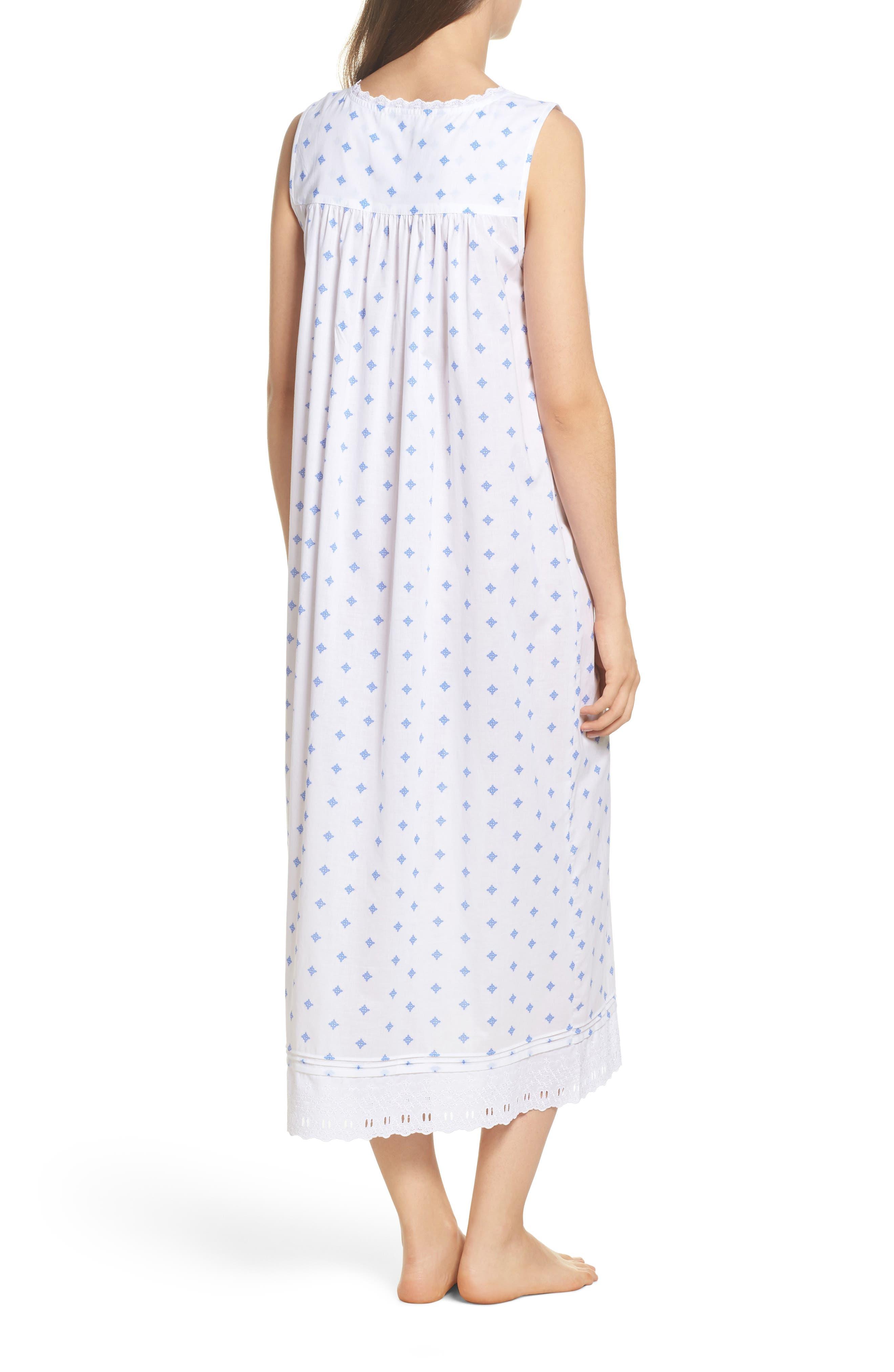 Ballet Nightgown,                             Alternate thumbnail 2, color,                             White Blue Geo