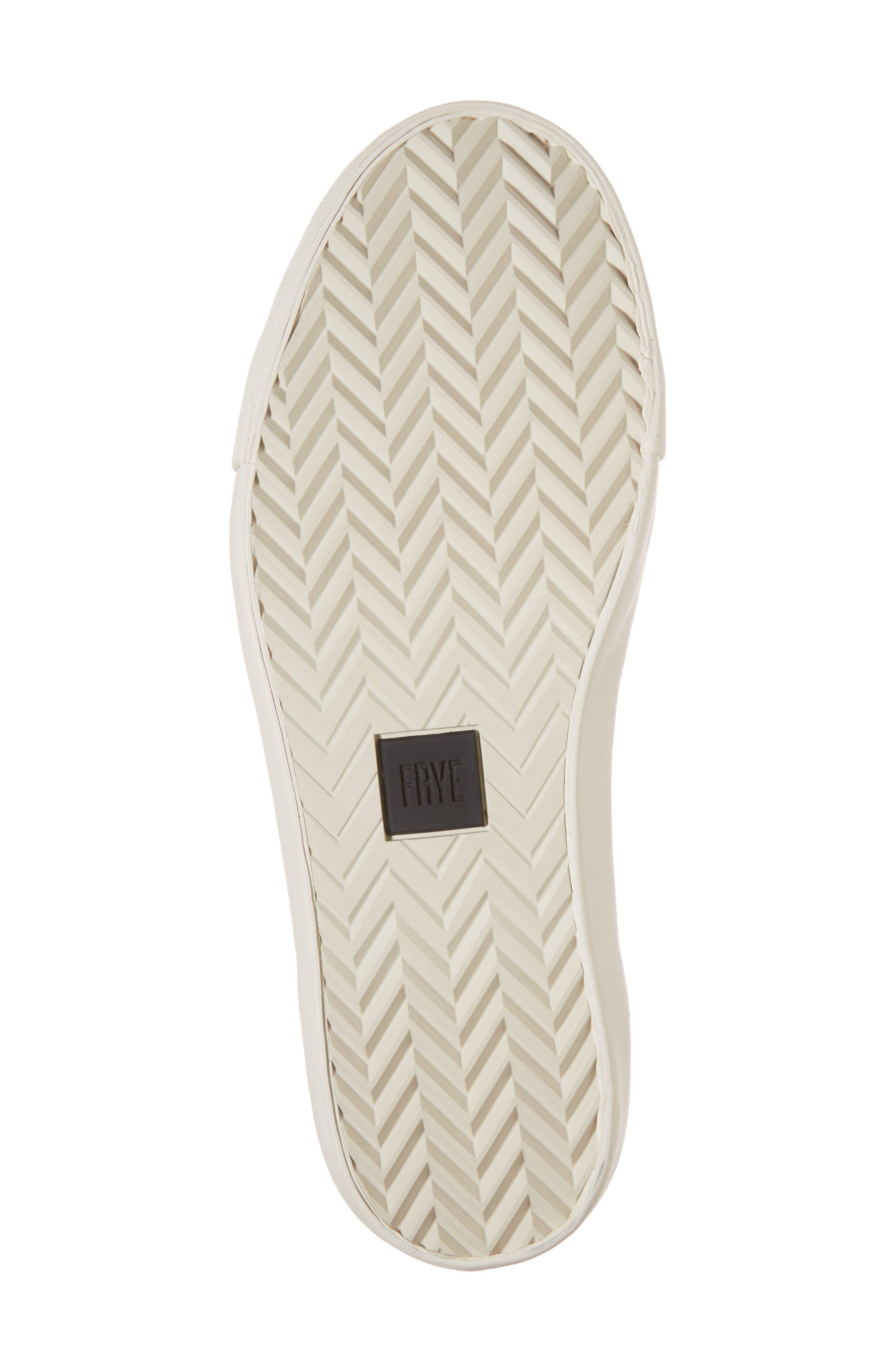 Brett Perforated Logo Low Top Sneaker,                             Alternate thumbnail 6, color,                             Slate Leather