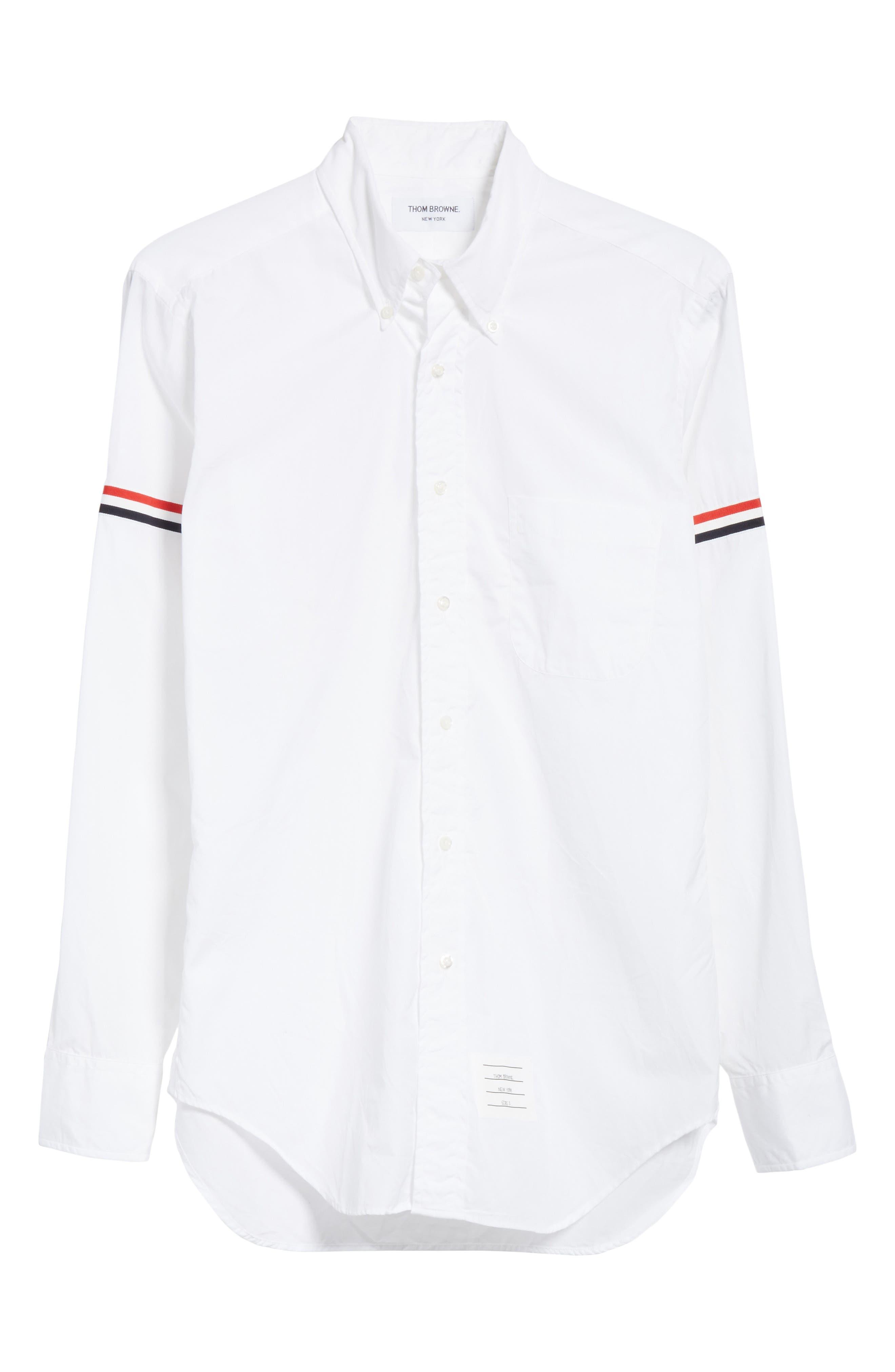 Woven Shirt,                             Alternate thumbnail 6, color,                             Off White