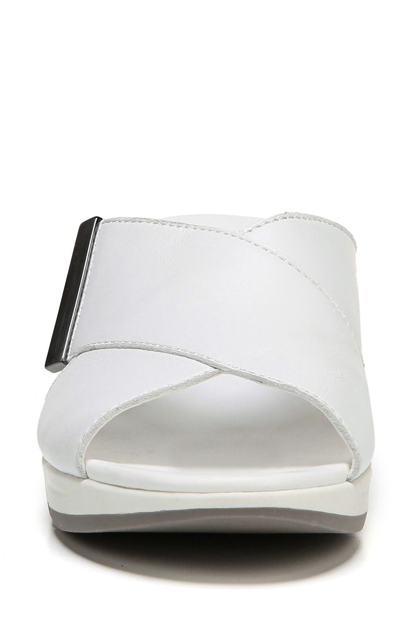 Izzy Wedge Sandal,                             Alternate thumbnail 2, color,                             White Leather