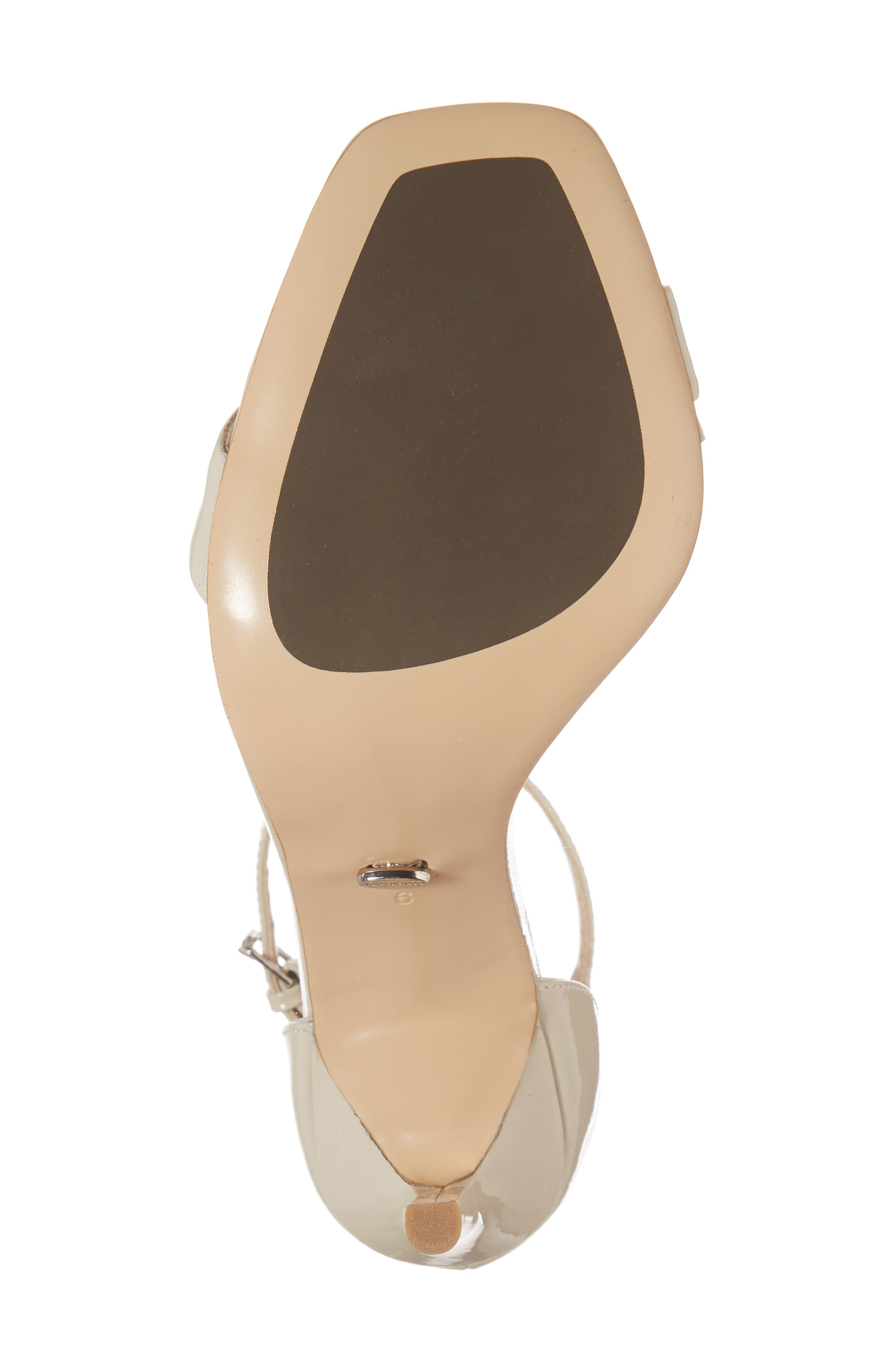 Sacha Ankle Strap Sandal,                             Alternate thumbnail 6, color,                             Oyster Patent Leather