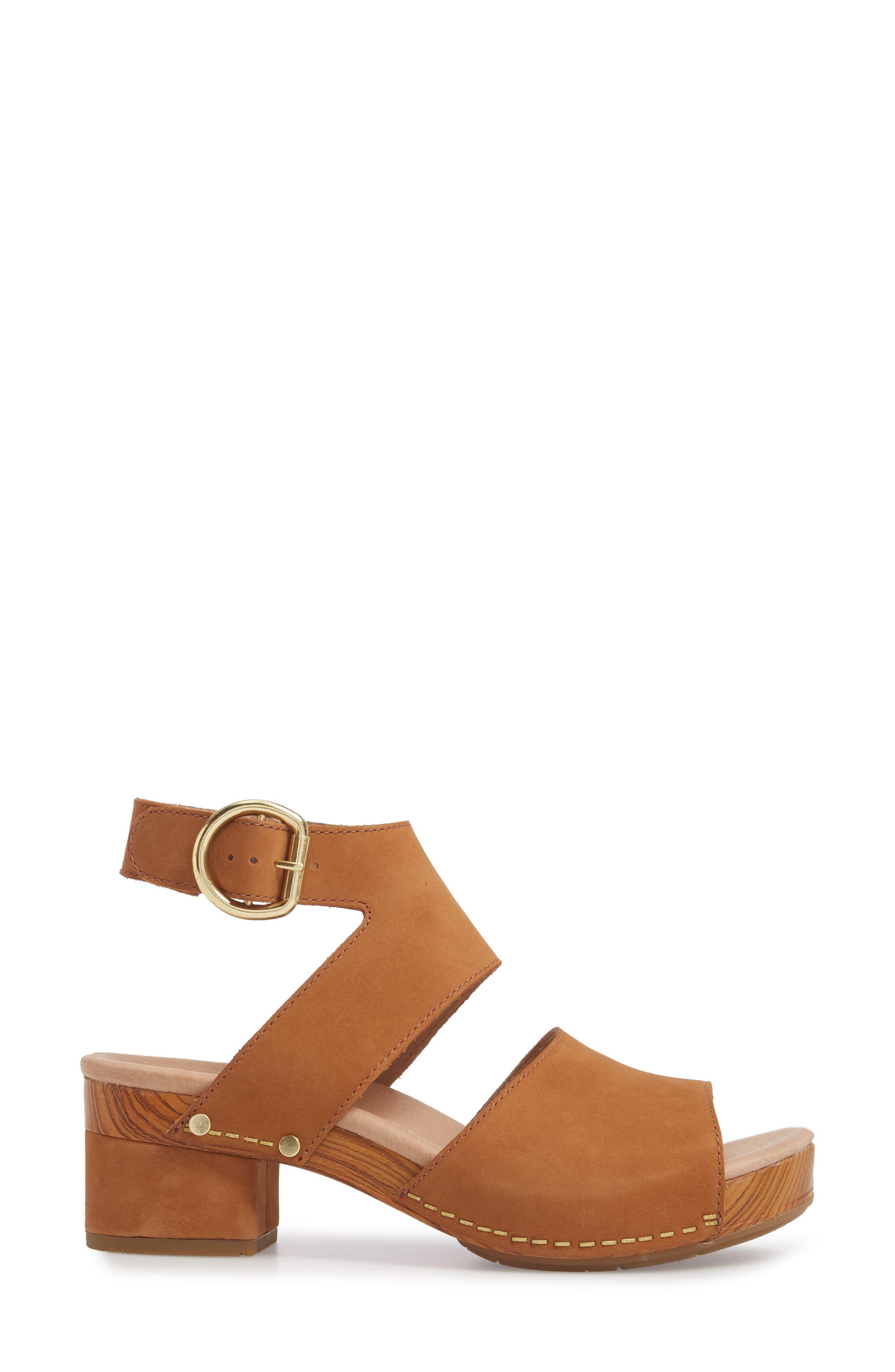 Minka Sandal,                             Alternate thumbnail 3, color,                             Camel Milled Nubuck Leather