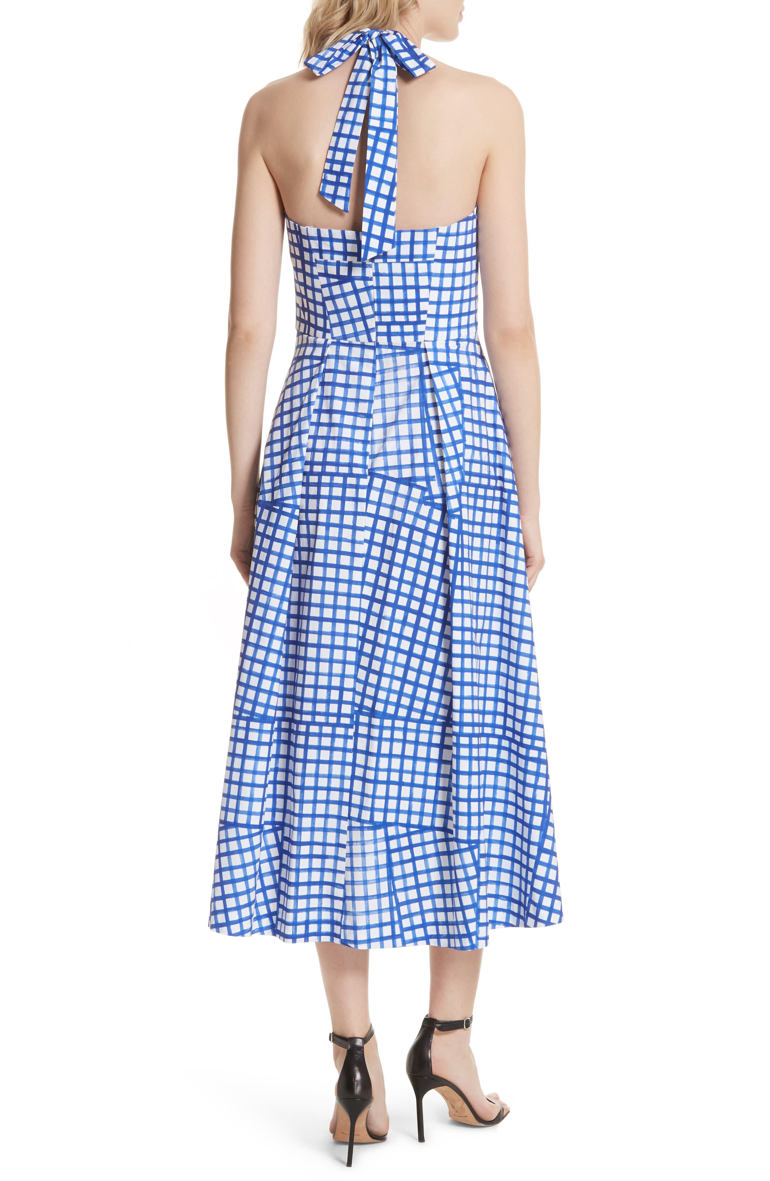 Paige Stretch Cotton Halter Dress,                             Alternate thumbnail 2, color,                             Blueberry