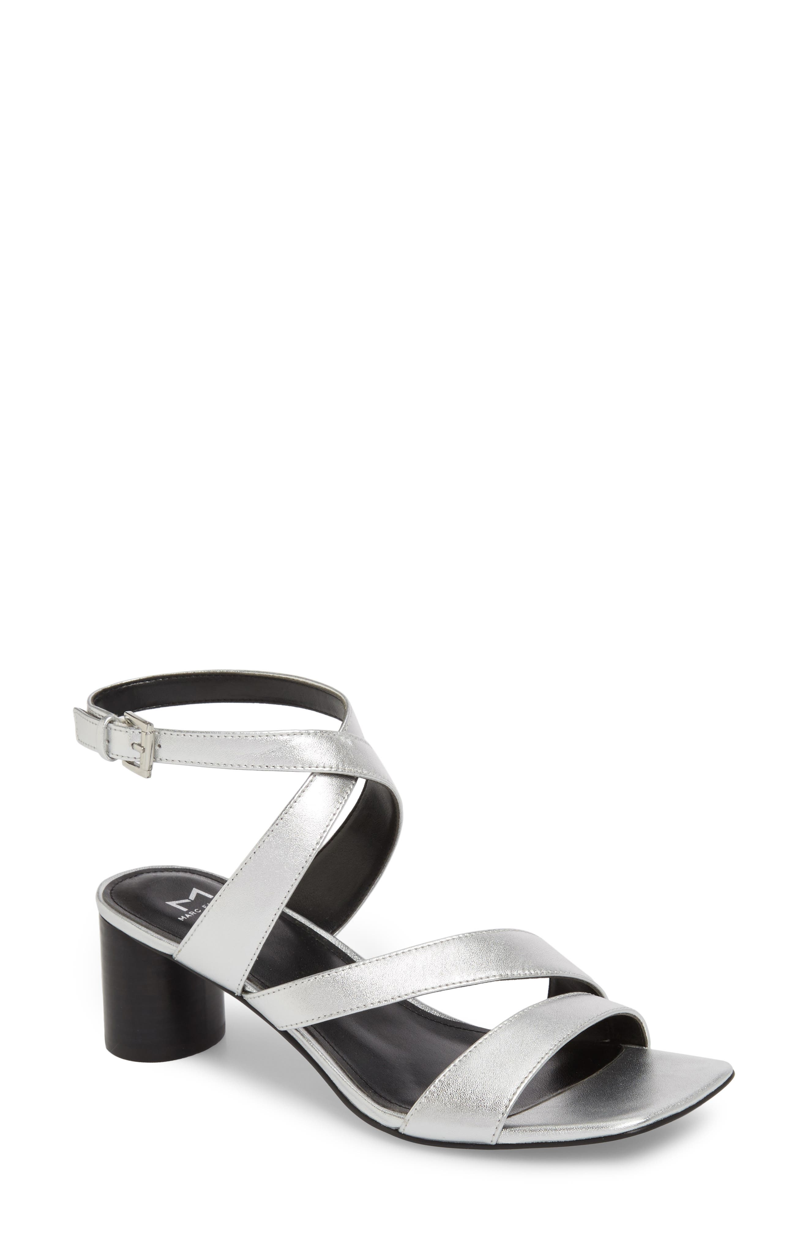 Marc Fischer LTD Idana Strappy Sandal,                             Main thumbnail 1, color,                             Silver Leather