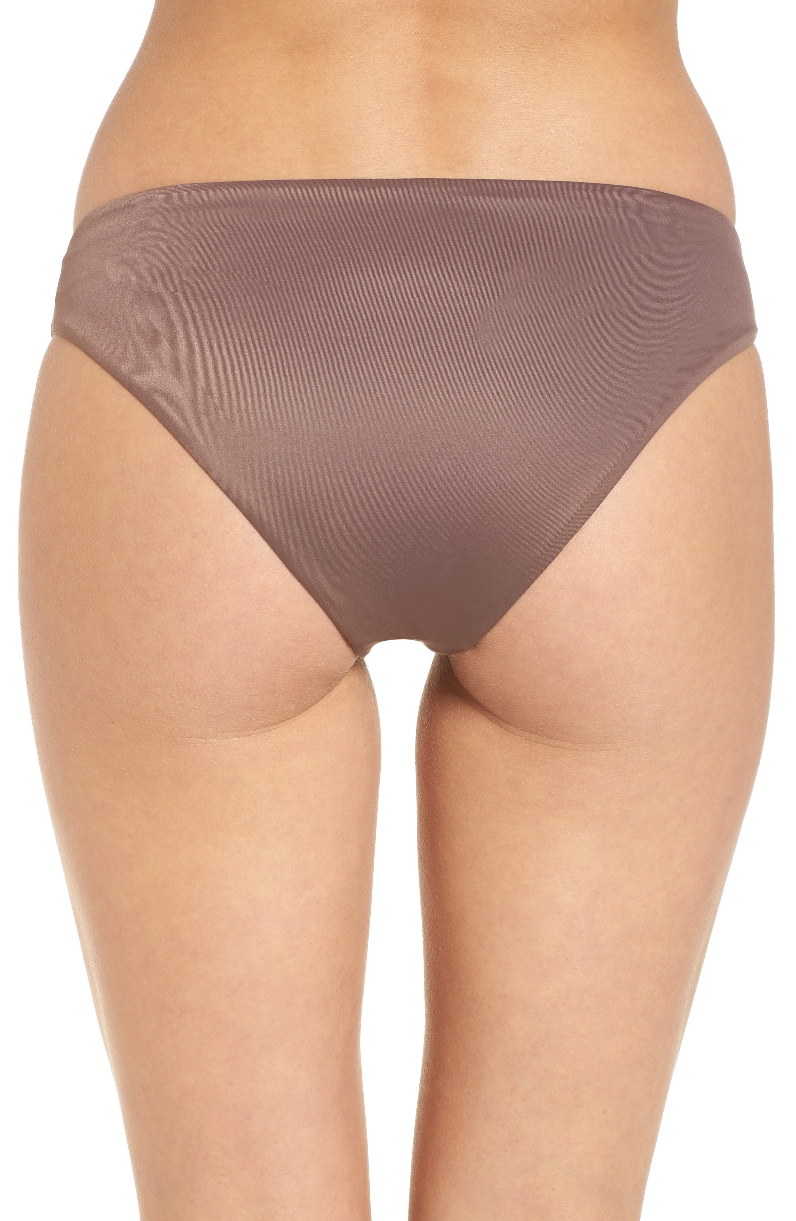 Solid Full Hipster Bikini Bottoms,                             Alternate thumbnail 2, color,                             Raisin