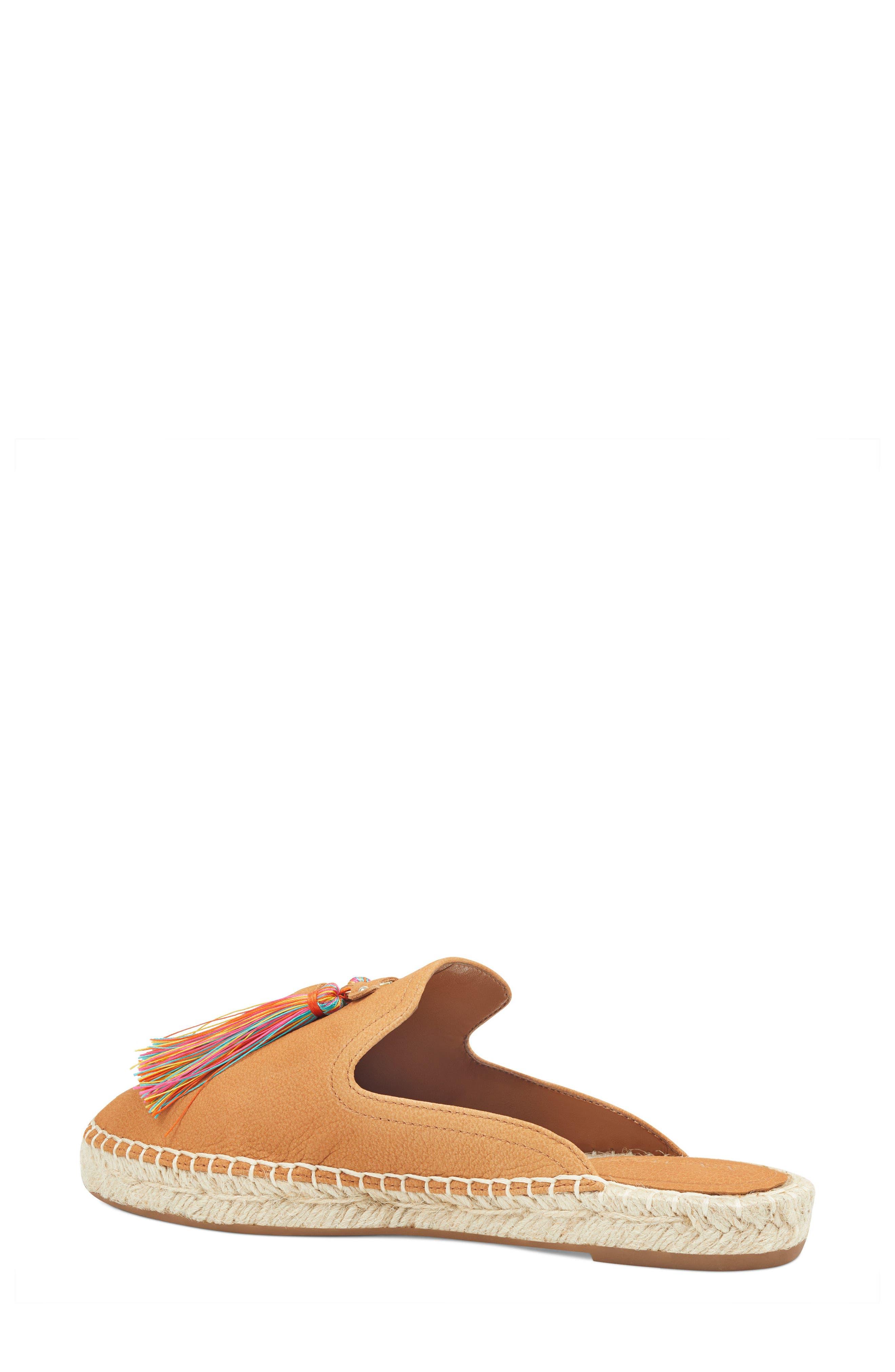 Val Tasseled Loafer Mule,                             Alternate thumbnail 2, color,                             Dark Natural Suede