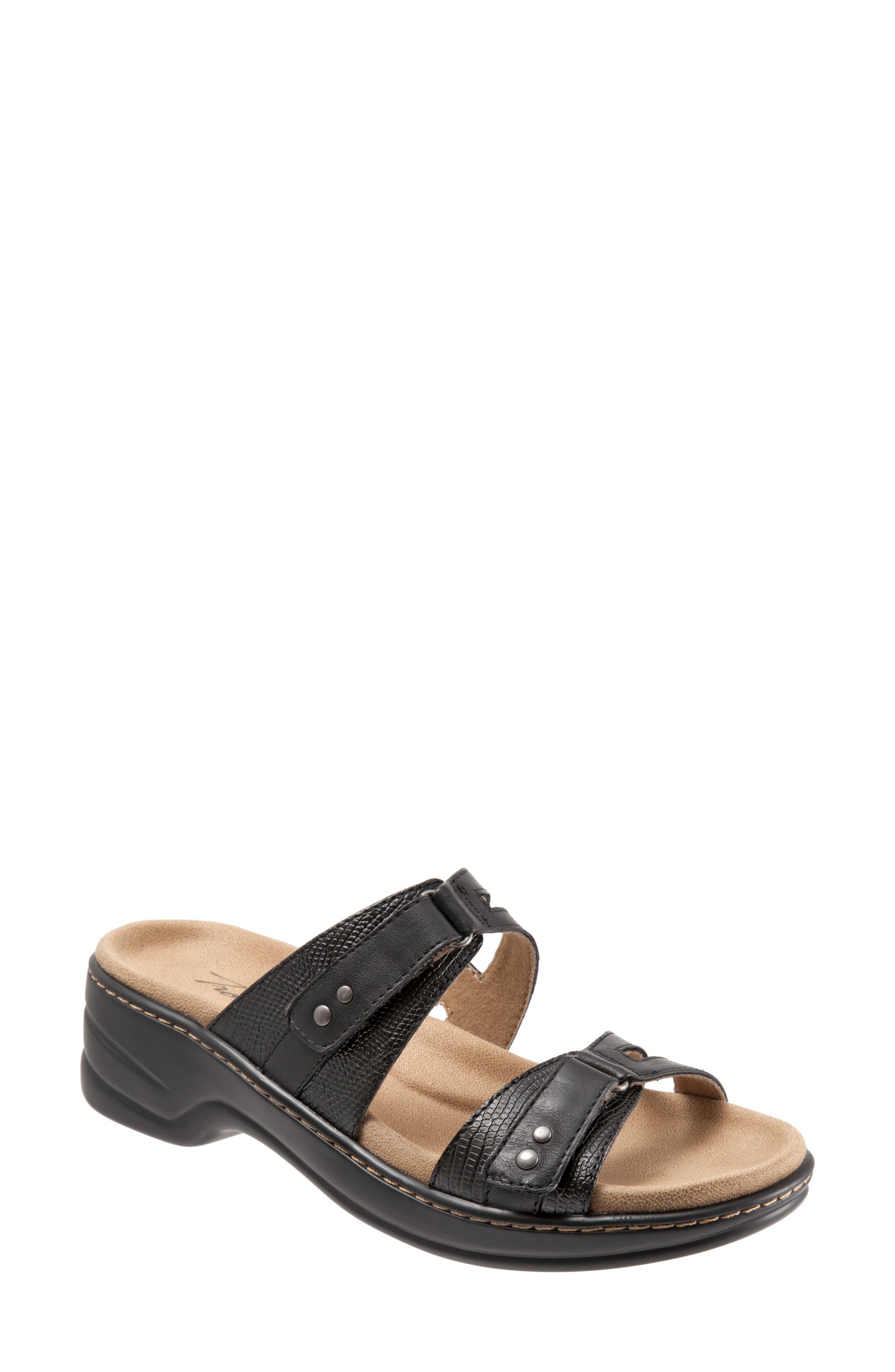 Neiman Sandal,                         Main,                         color, Black Leather