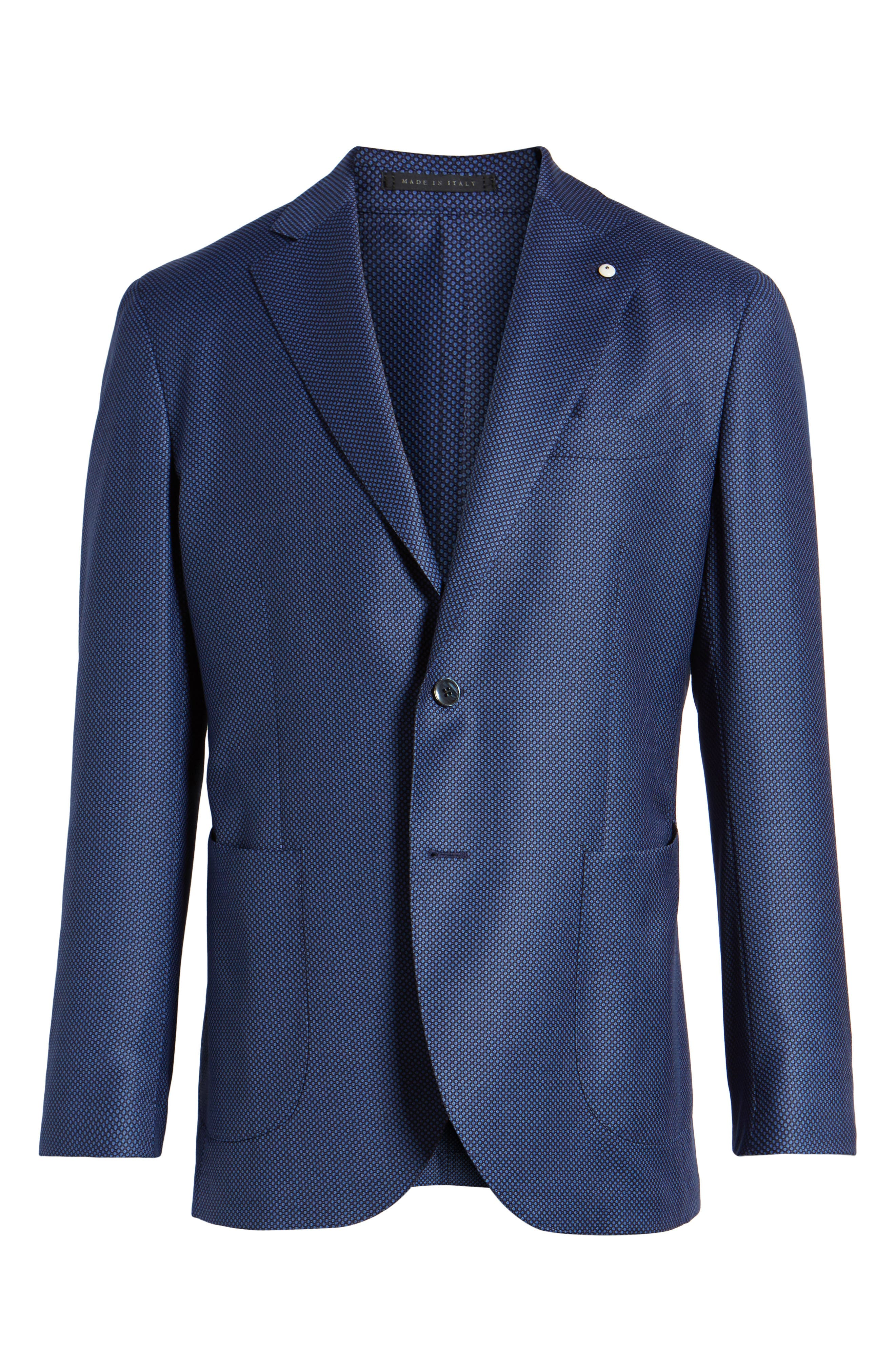 Classic Fit Wool Blazer,                             Alternate thumbnail 6, color,                             Navy