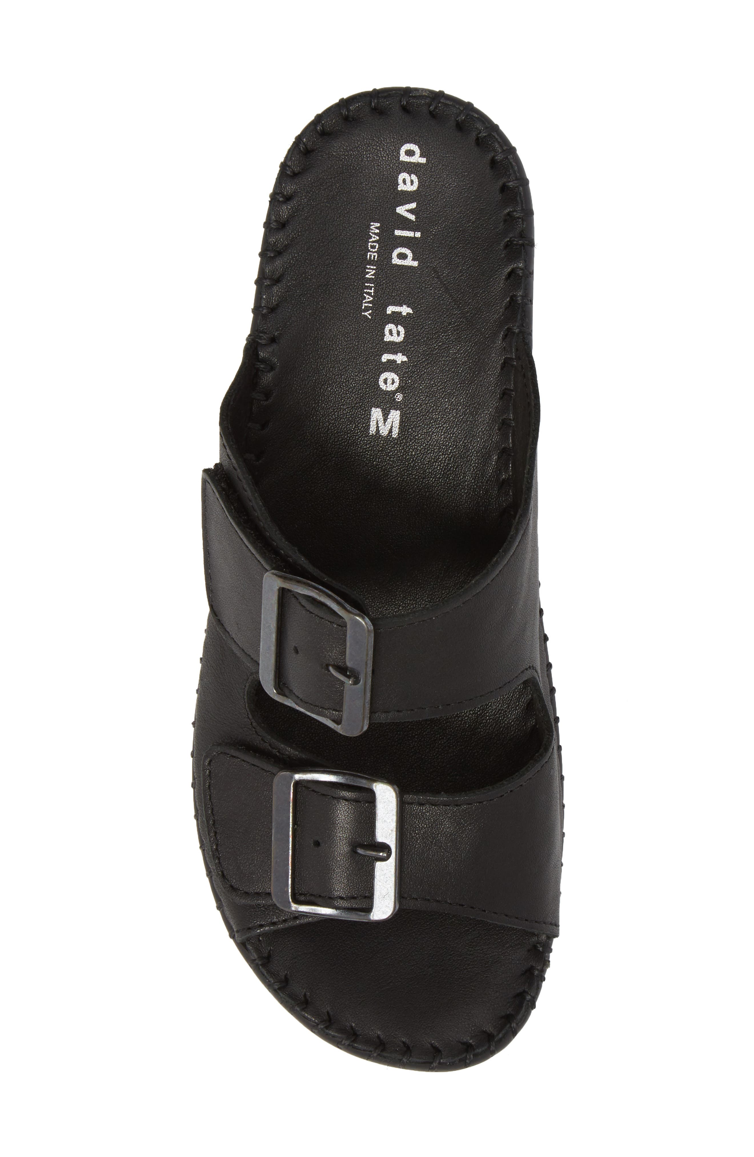 Sol Sandal,                             Alternate thumbnail 5, color,                             Black Leather