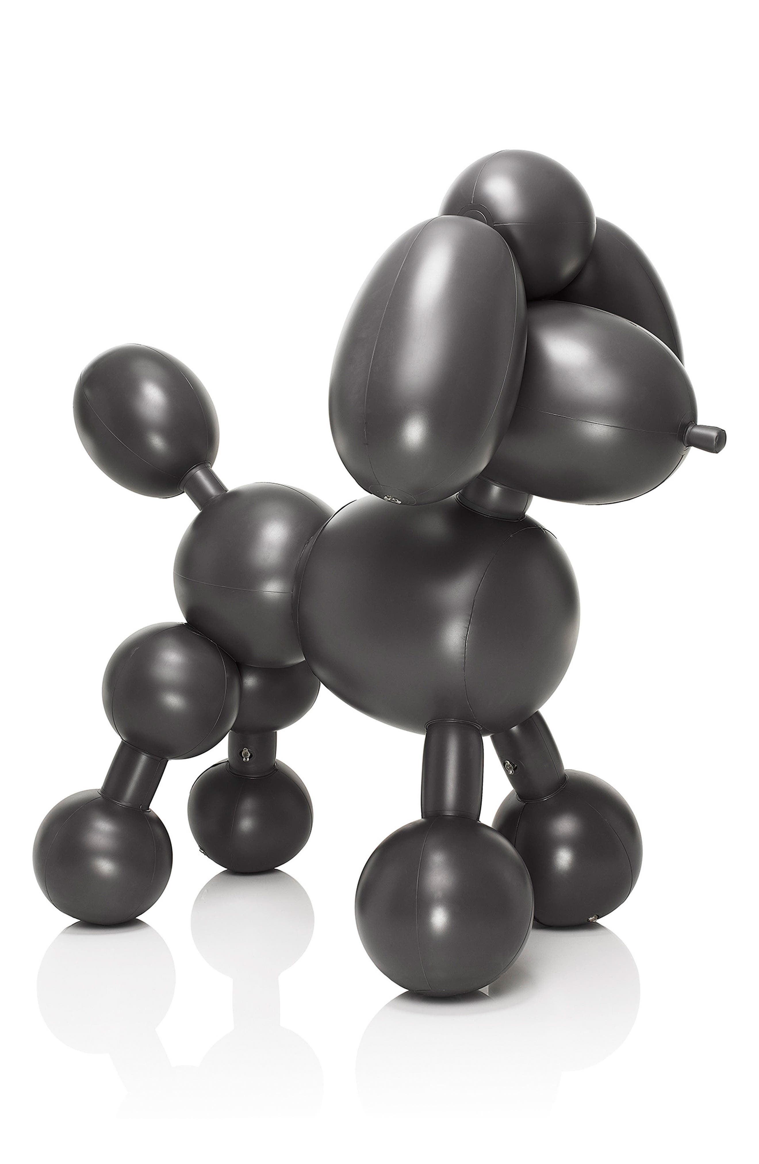 Dolly Inflatable Dog Decoration,                         Main,                         color, Anthracite