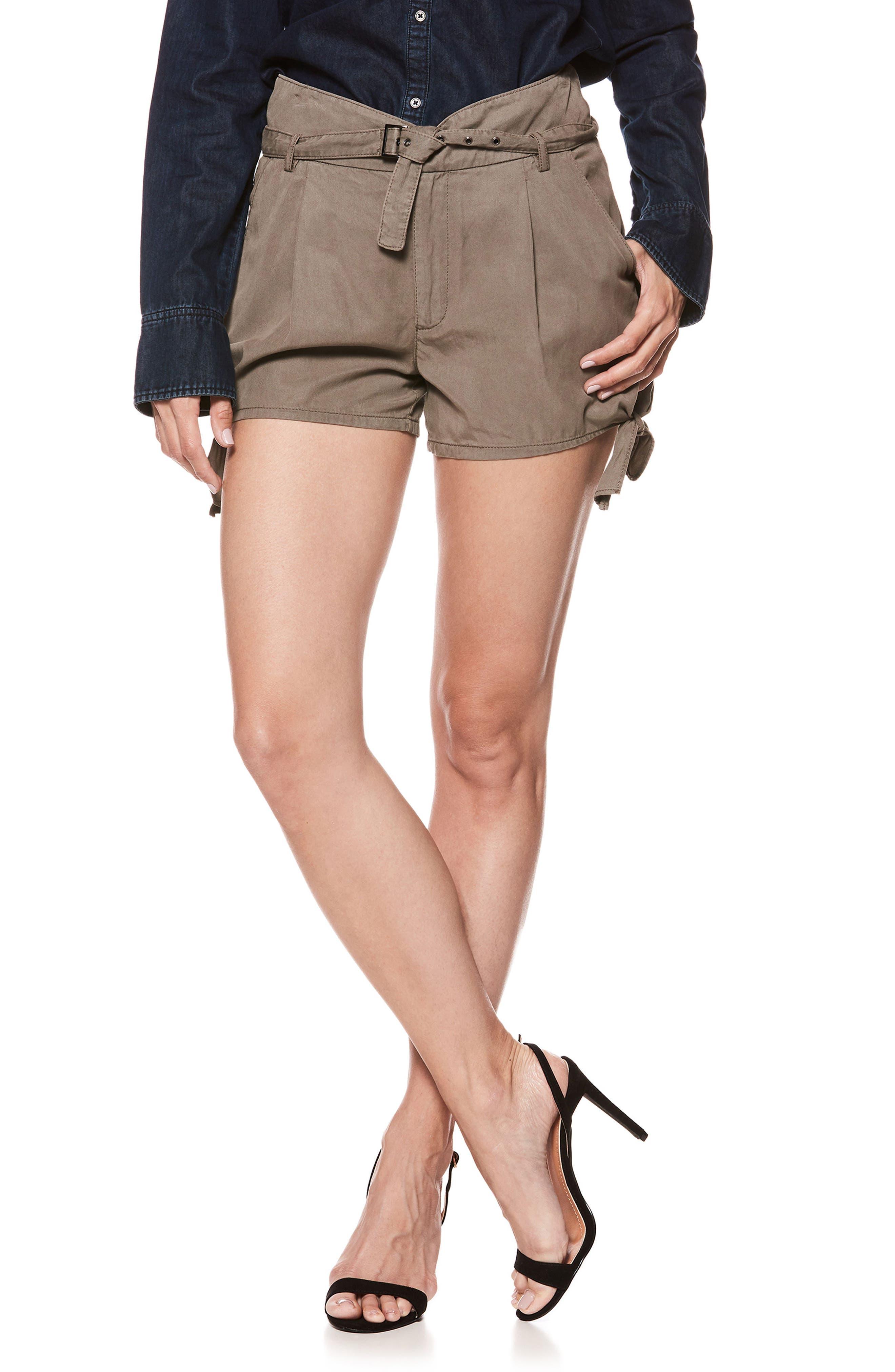 Main Image - PAIGE Claudette Tie Hem Shorts