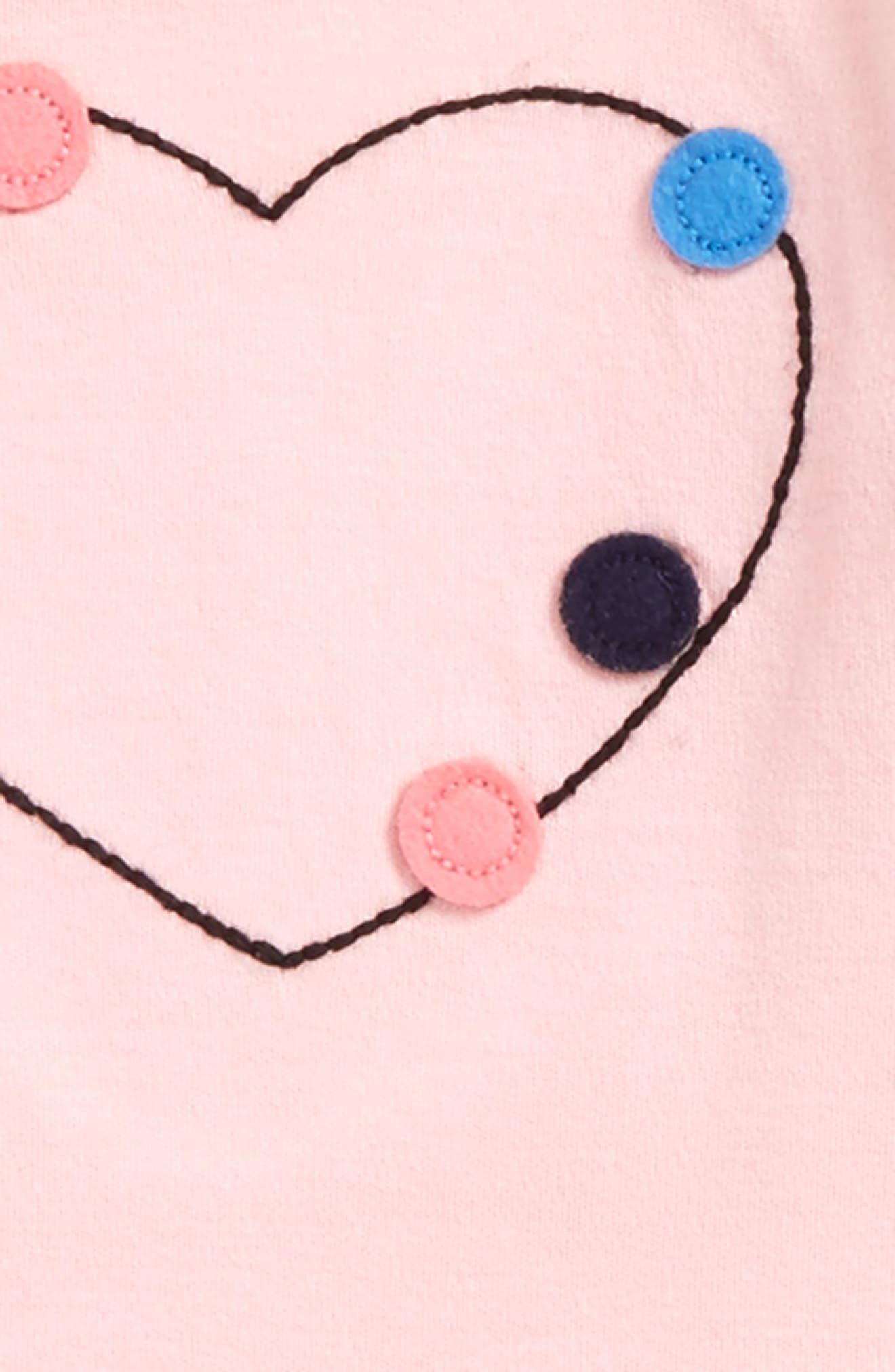 Bodysuit & Pompom Tutu Skirt Set,                             Alternate thumbnail 2, color,                             Pink Coral Hearts