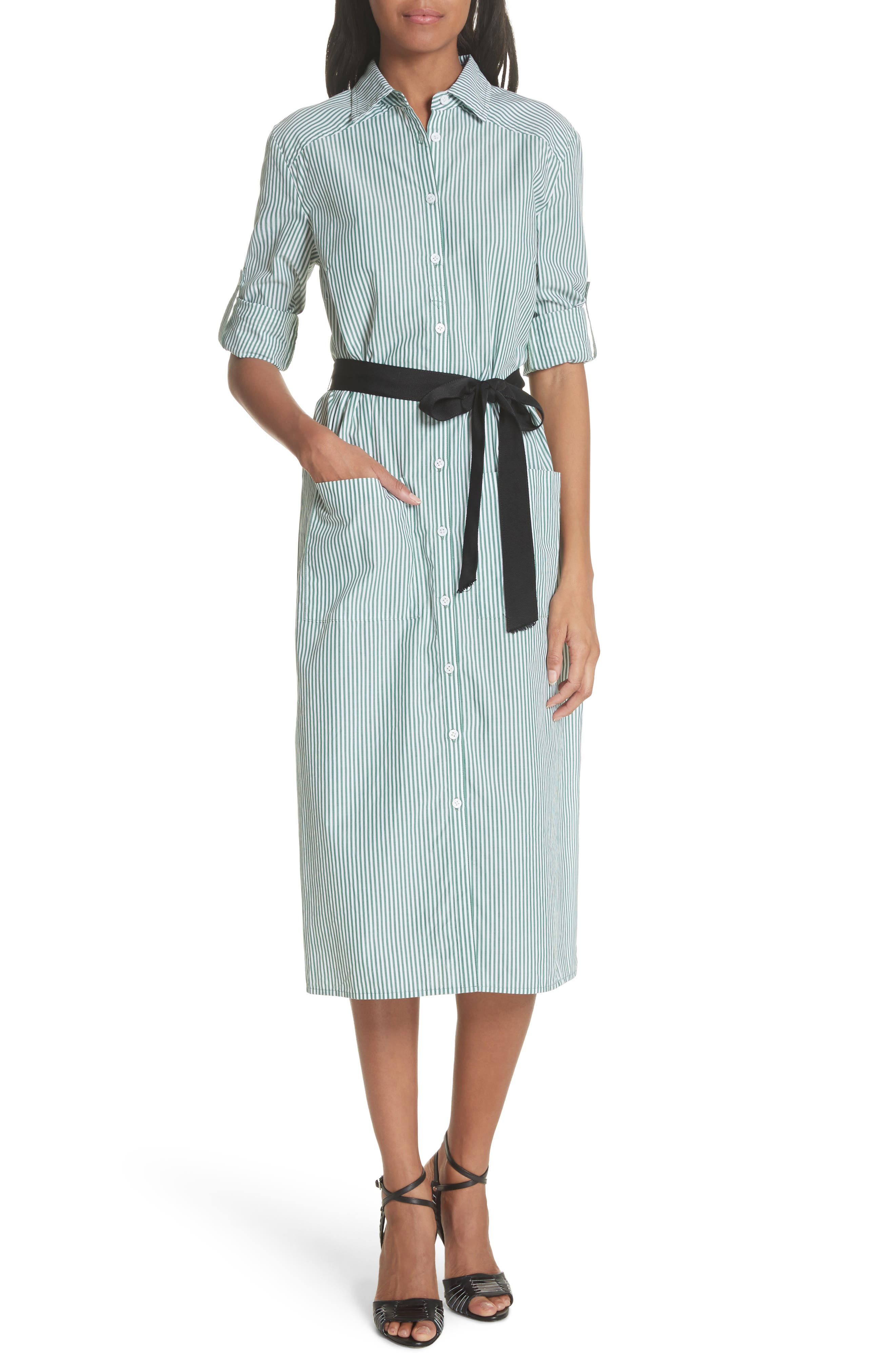 Veronica Beard Carter Stripe Shirtdress