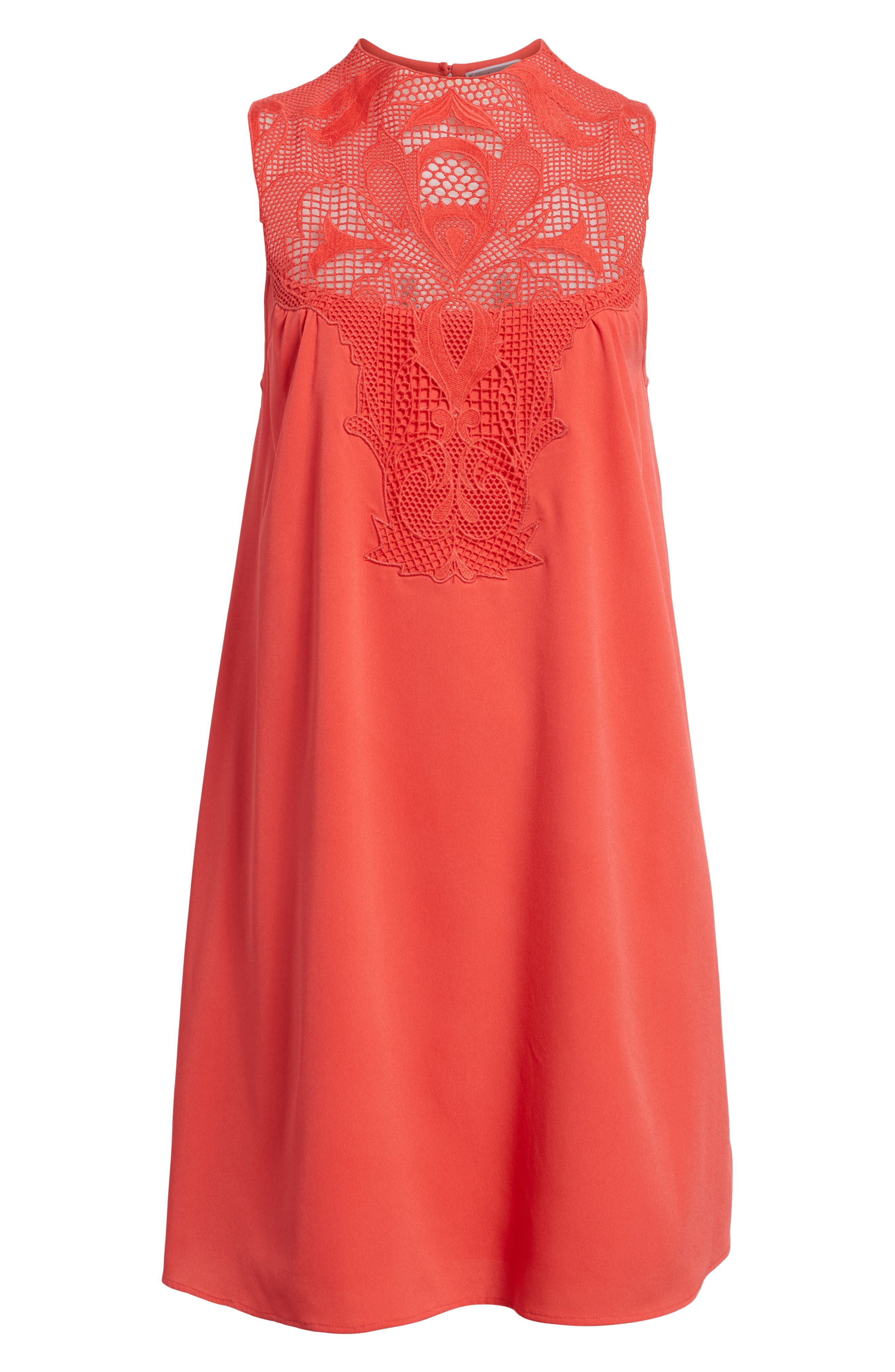 Swing Dress,                             Alternate thumbnail 6, color,                             Red Hibiscus