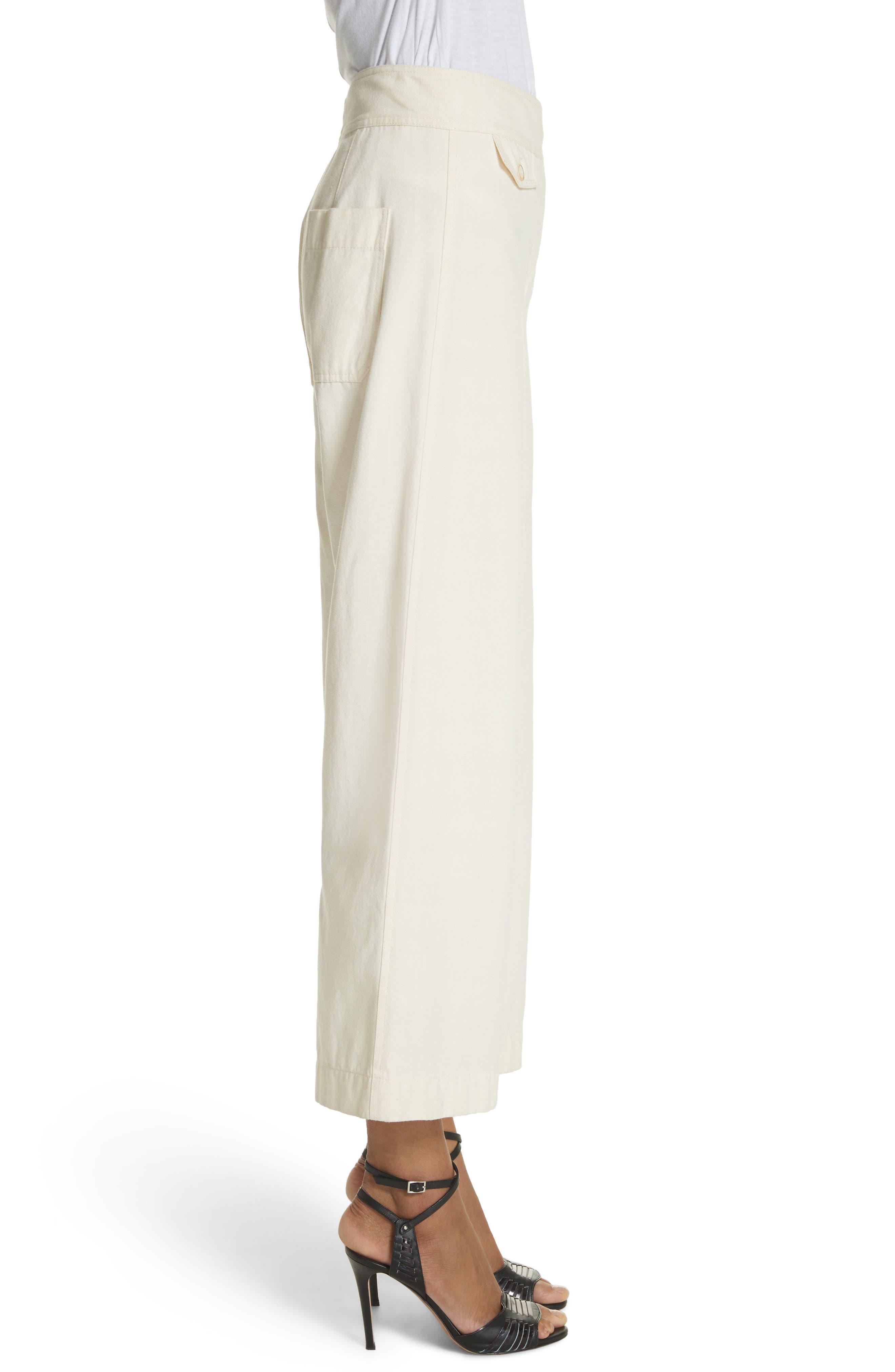Caymen Cotton Gaucho Pants,                             Alternate thumbnail 3, color,                             Natural