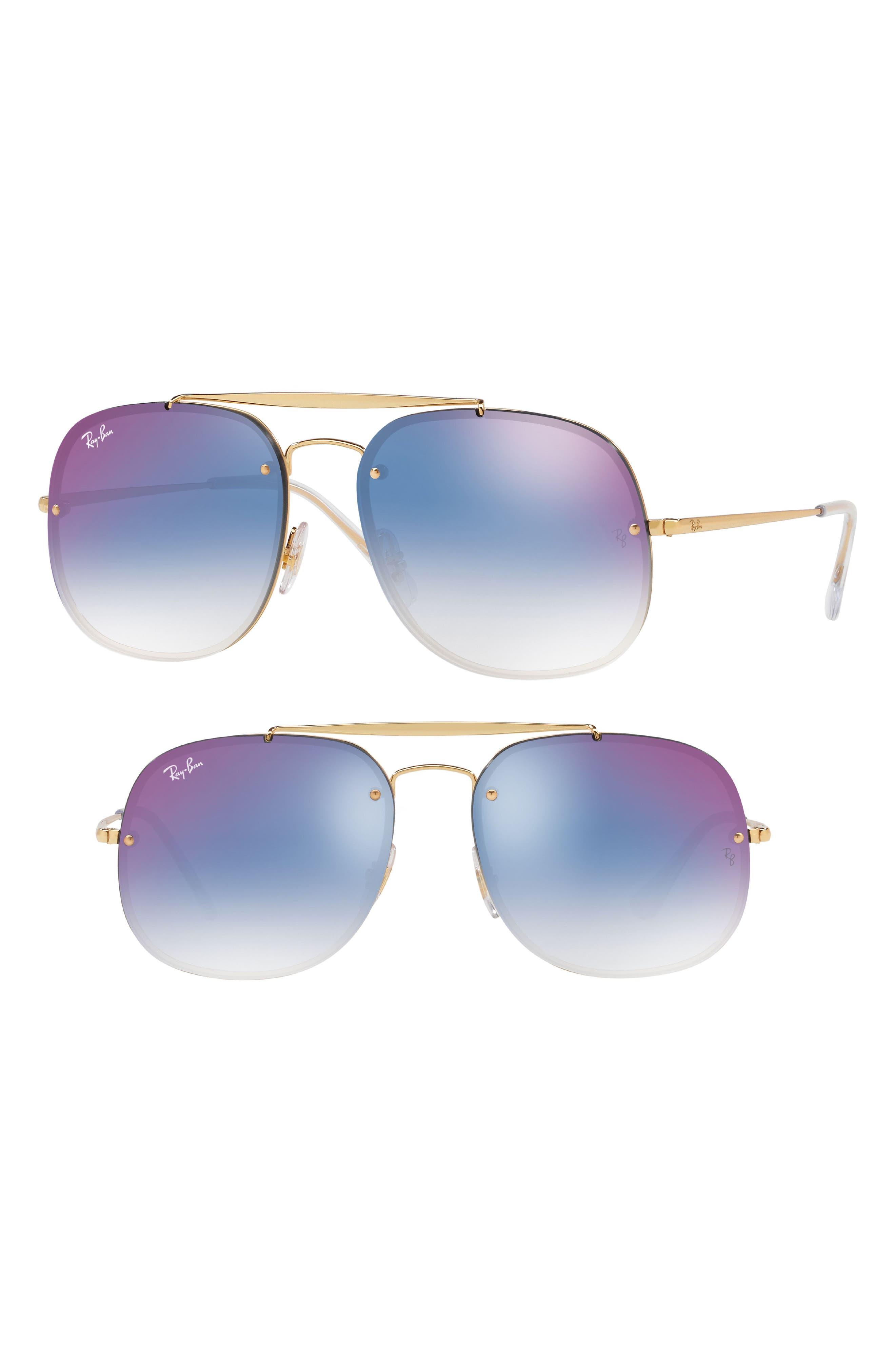 Blaze 58mm Gradient Lens Aviator Sunglasses,                         Main,                         color, Gold