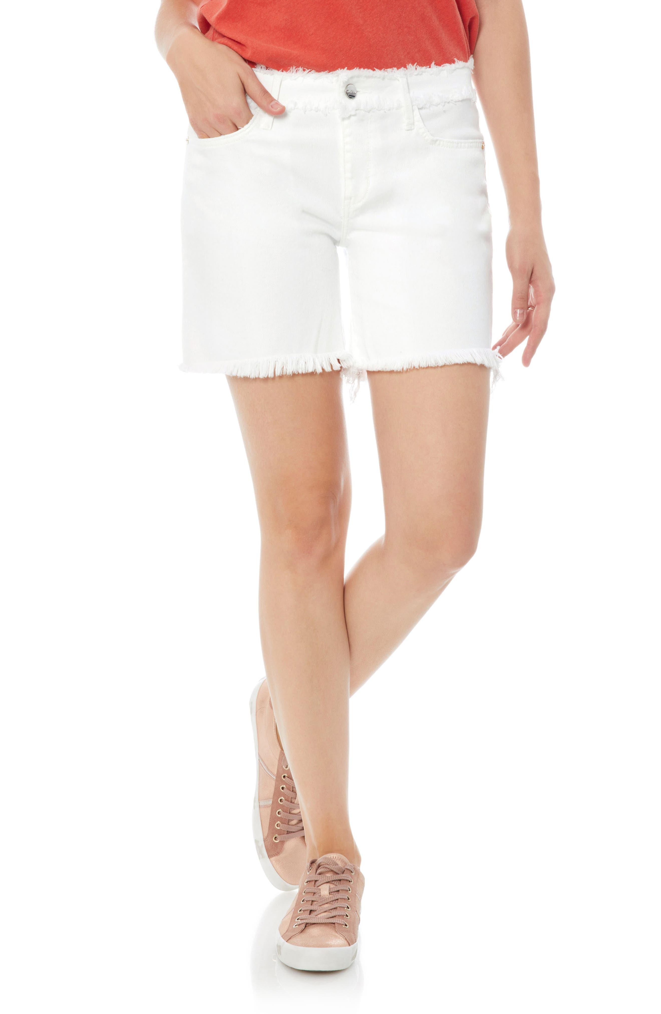 Derby High Rise Denim Shorts,                         Main,                         color, Laney