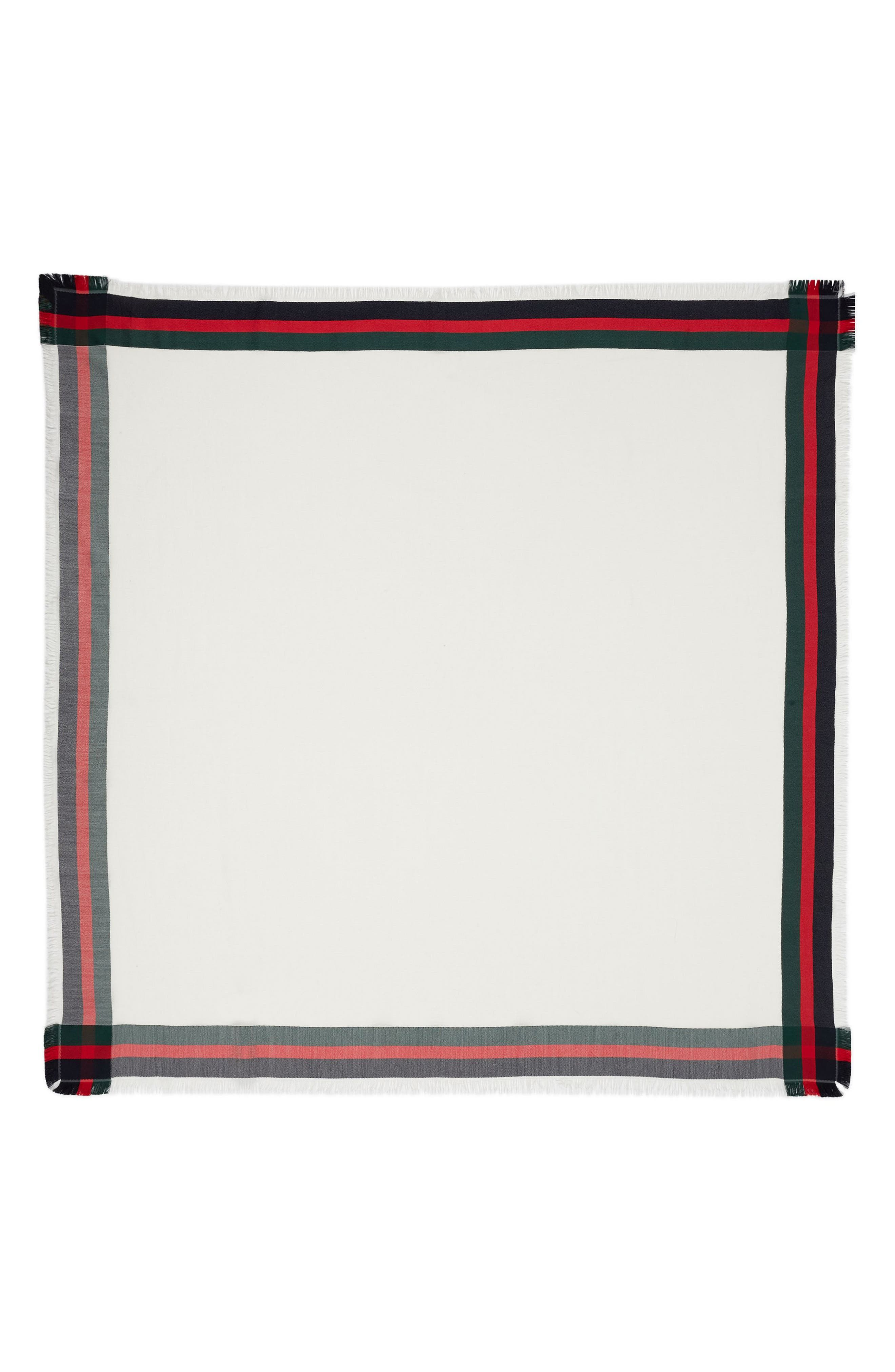 Web Jacquard Silk & Wool Shawl,                         Main,                         color, Ivory