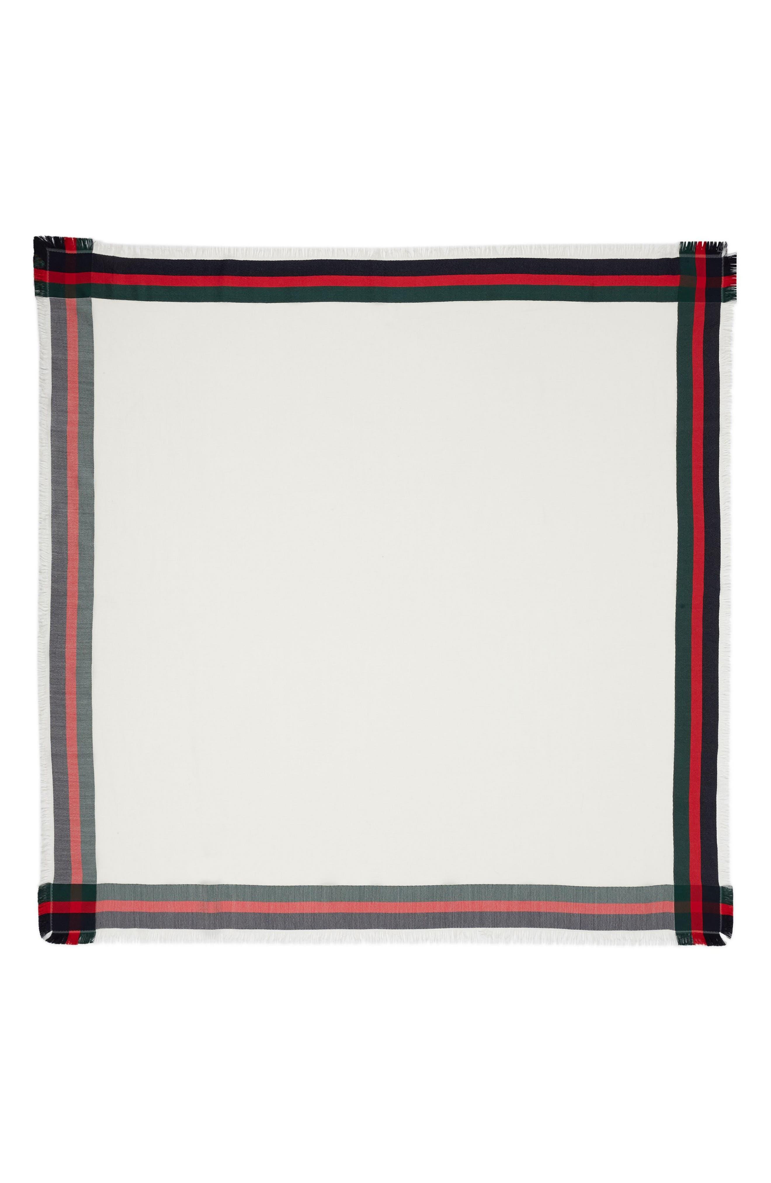 Gucci Web Jacquard Silk & Wool Shawl