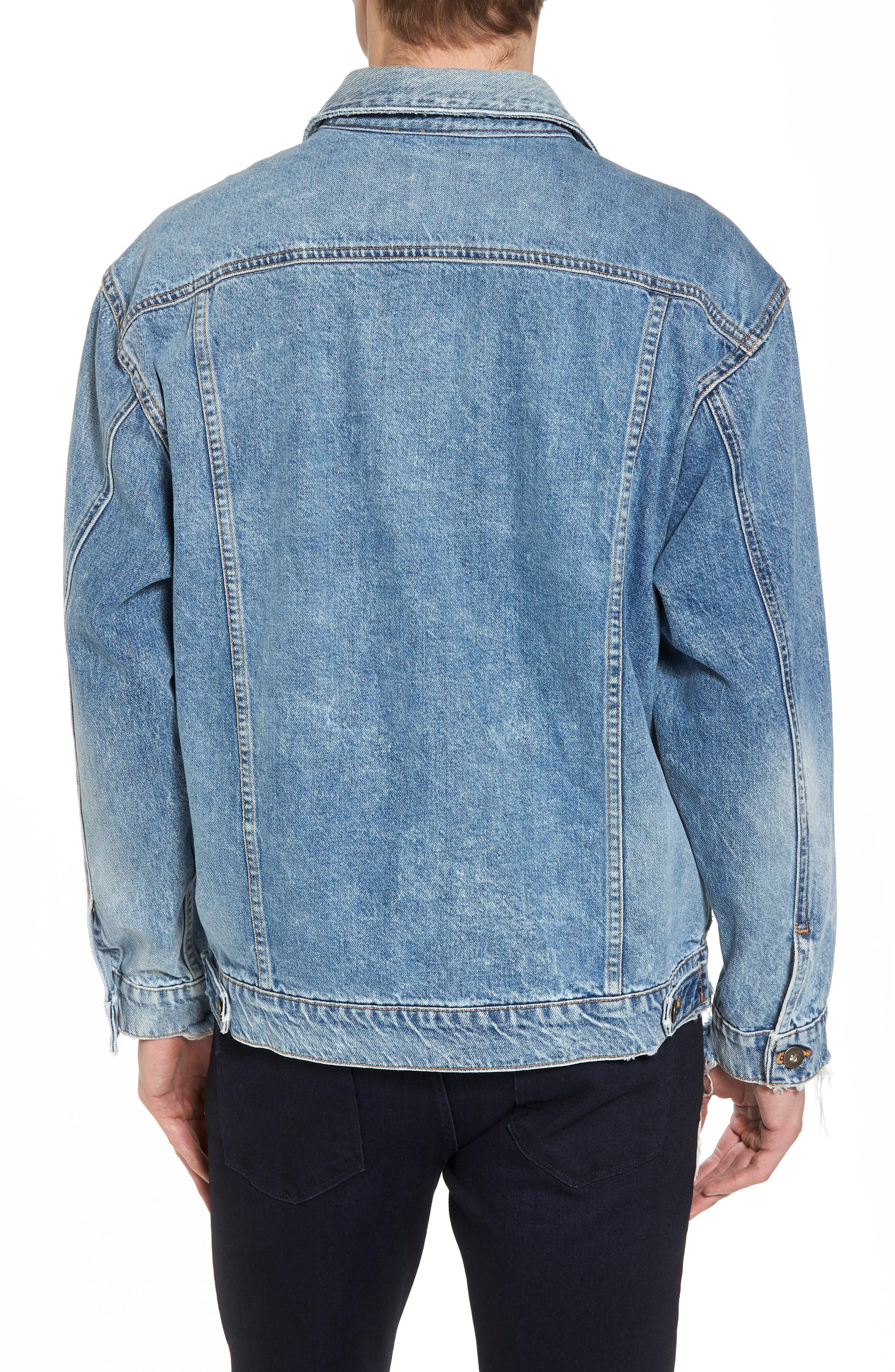 Denim Trucker Jacket,                             Alternate thumbnail 2, color,                             Hardtail