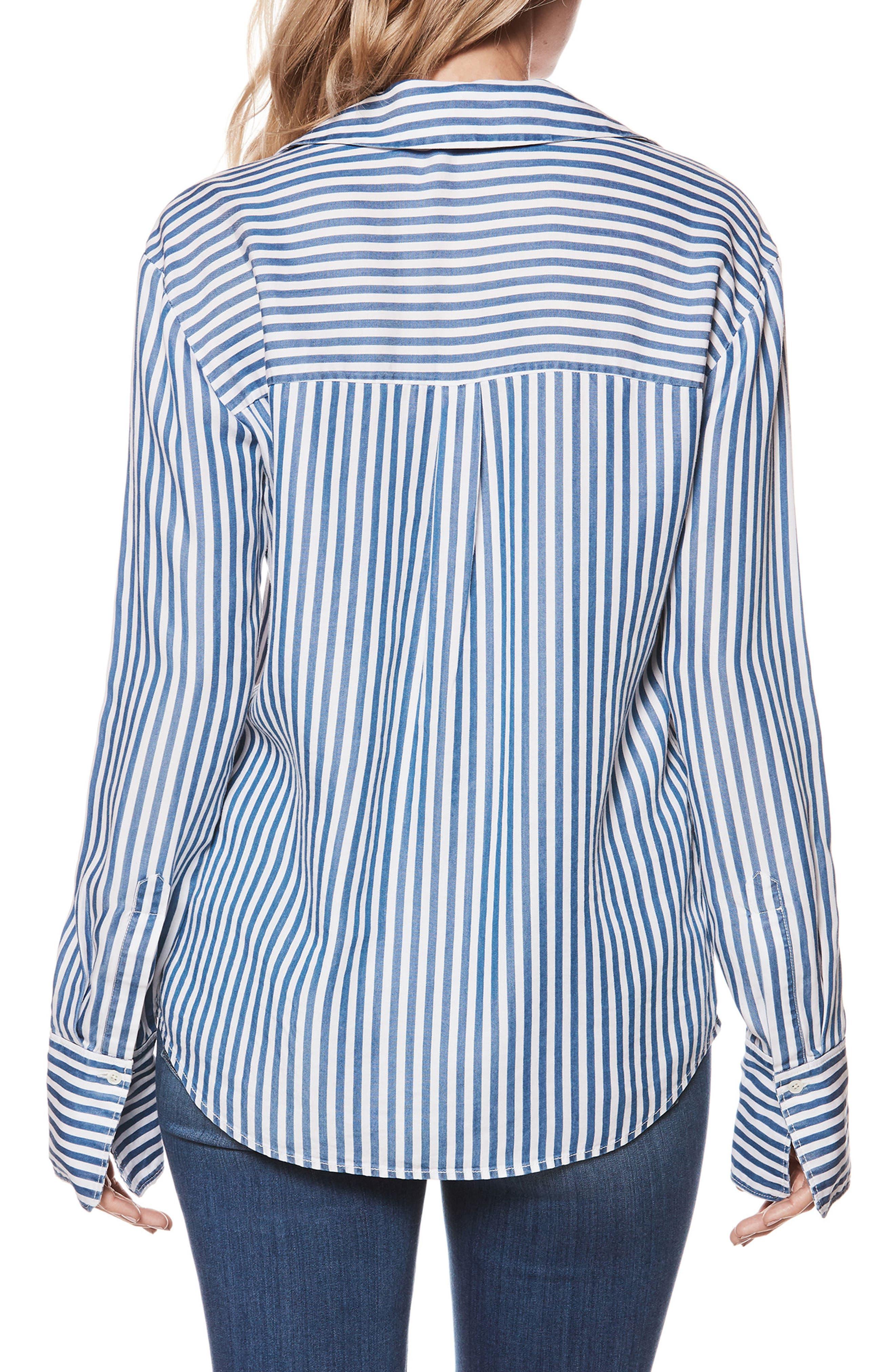 Elora Stripe Shirt,                             Alternate thumbnail 2, color,                             White/ Blue Bell Stripe
