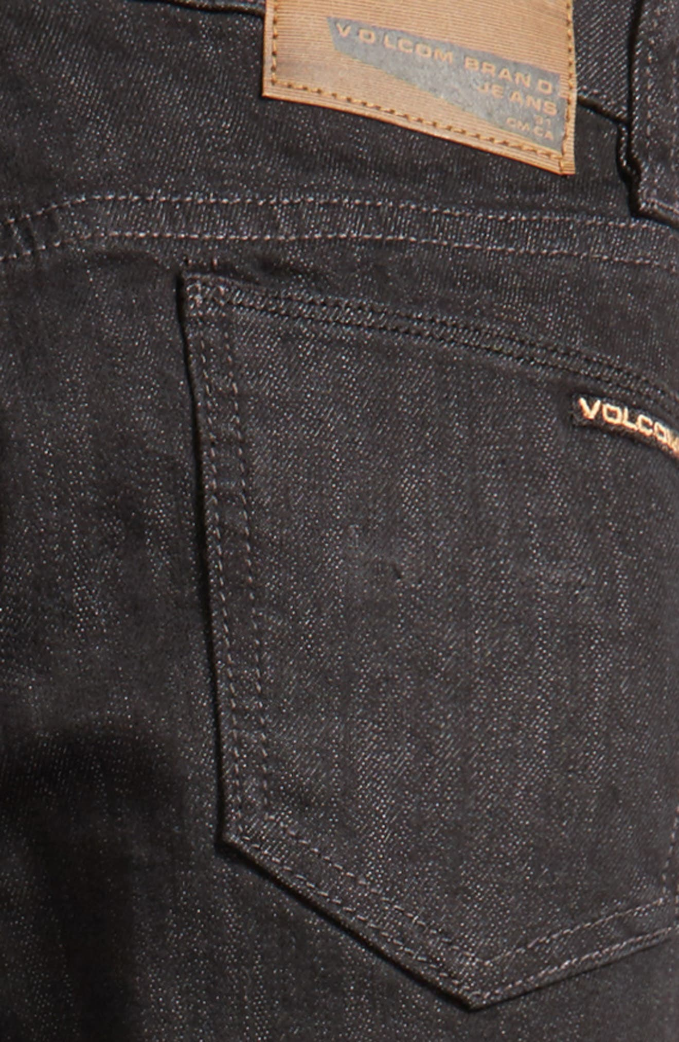 Vorta Slim Fit Jeans,                             Alternate thumbnail 4, color,                             Black Rinser