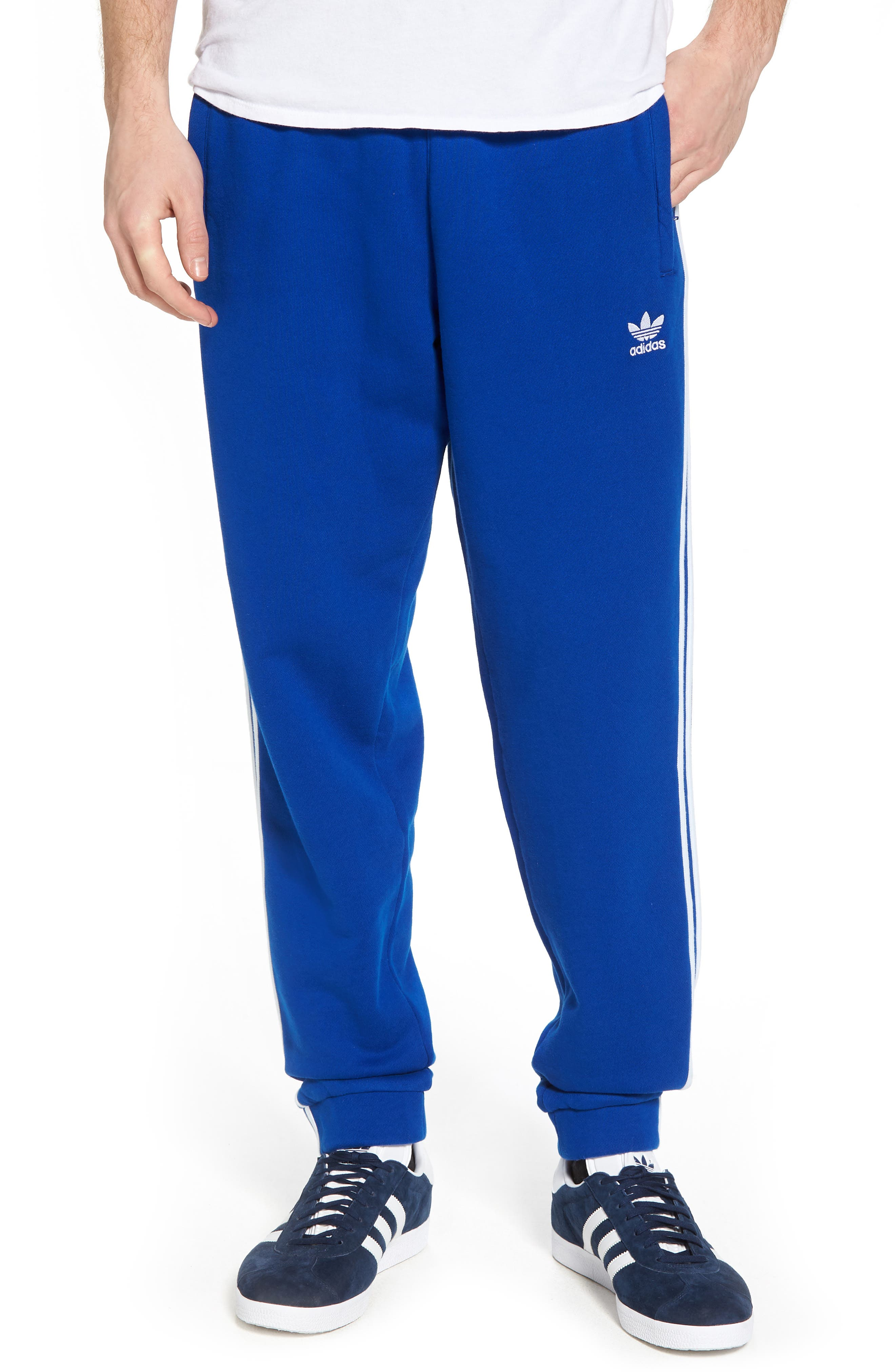 3-Stripes Sweatpants,                             Main thumbnail 1, color,                             Collegiate Royal