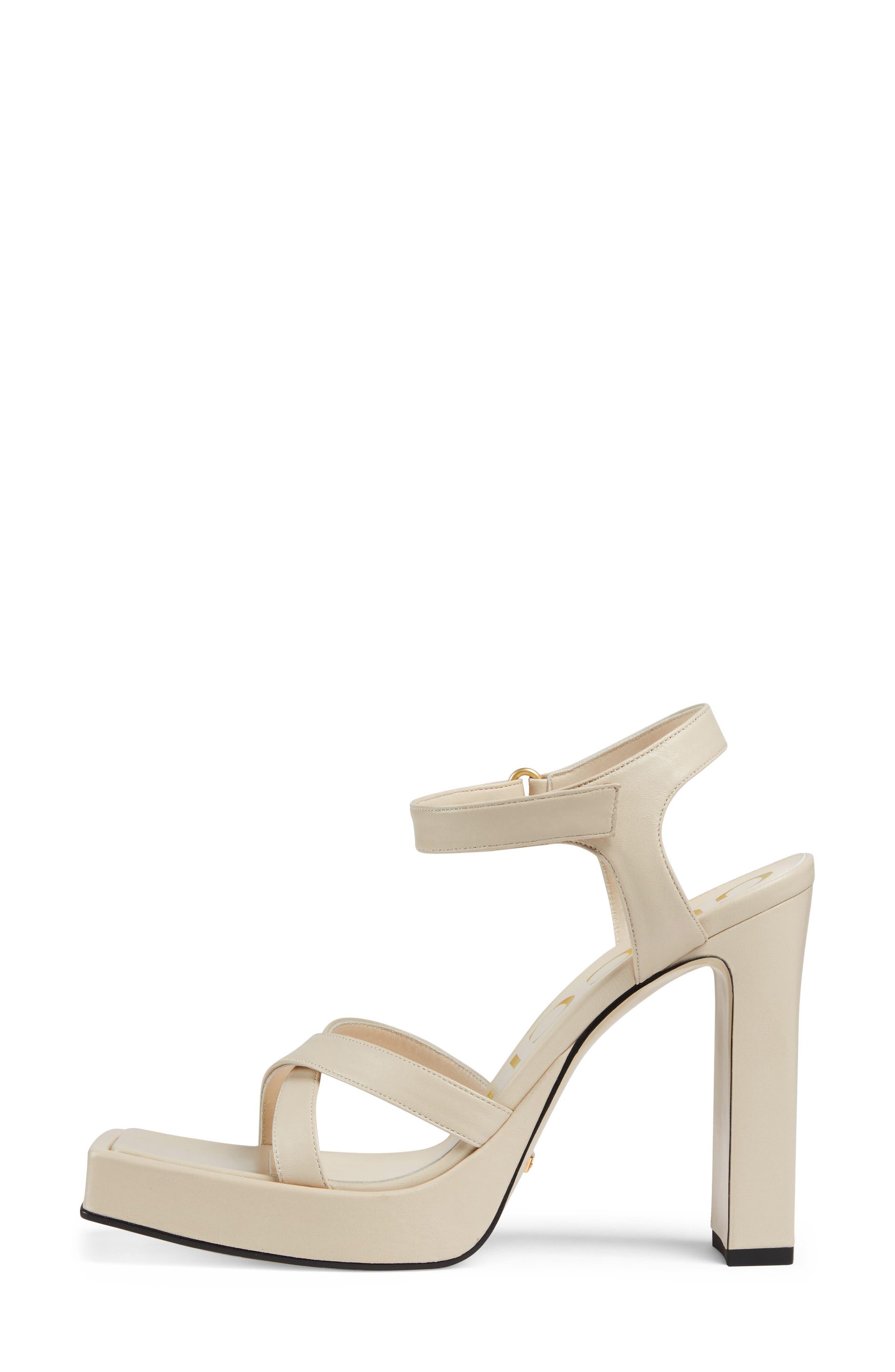 Costanze Platform Sandal,                             Alternate thumbnail 2, color,                             White
