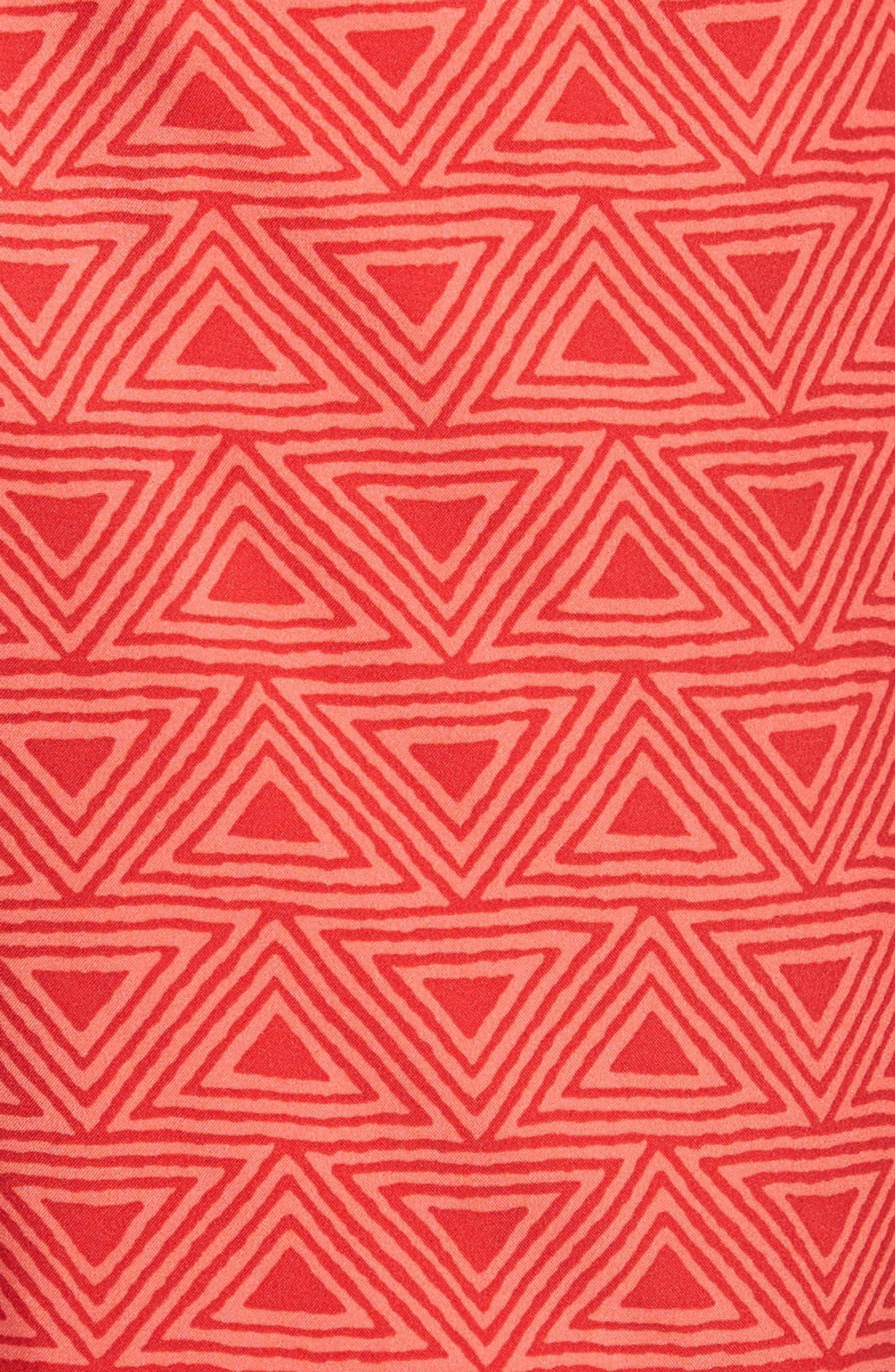 Geo Print 7-Inch Swim Trunks,                             Alternate thumbnail 5, color,                             Triangle Geo Pink