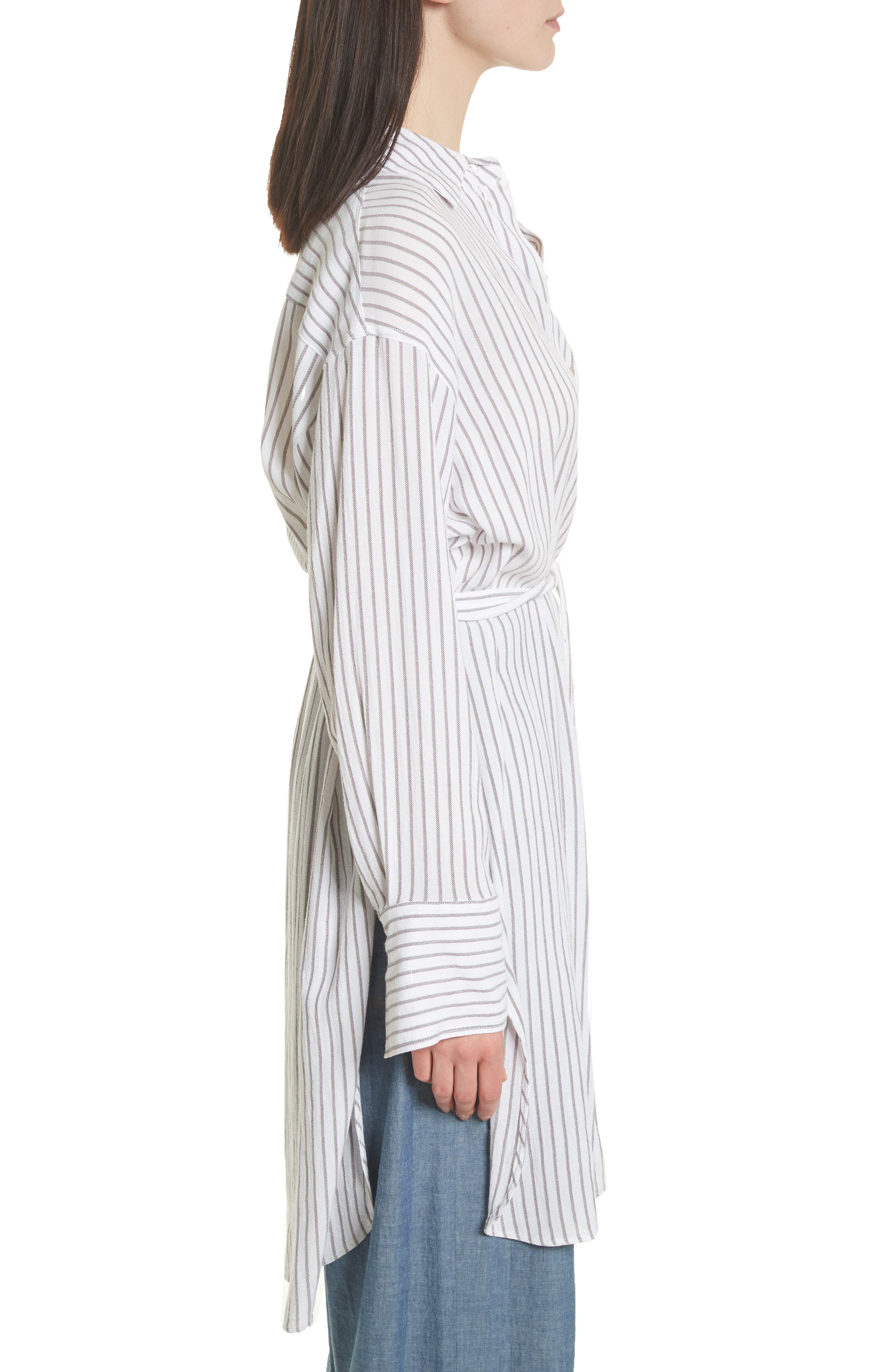 Tawerence Stripe Belted Tunic,                             Alternate thumbnail 4, color,                             Multi