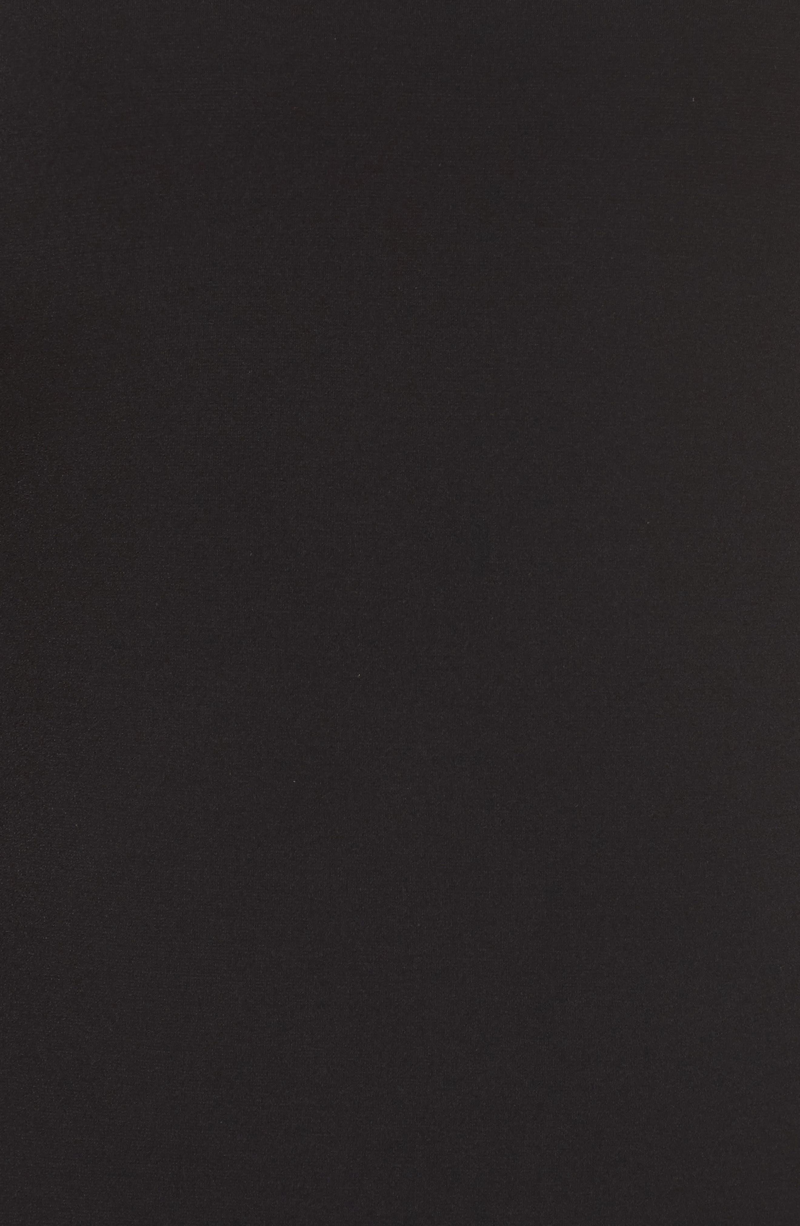 Solid Flounce Dress,                             Alternate thumbnail 5, color,                             Black
