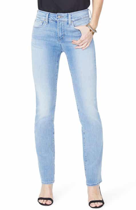 e4fa7dd5b05 NYDJ Marilyn High Waist Stretch Straight Leg Jeans (Rinse) (Regular    Petite)