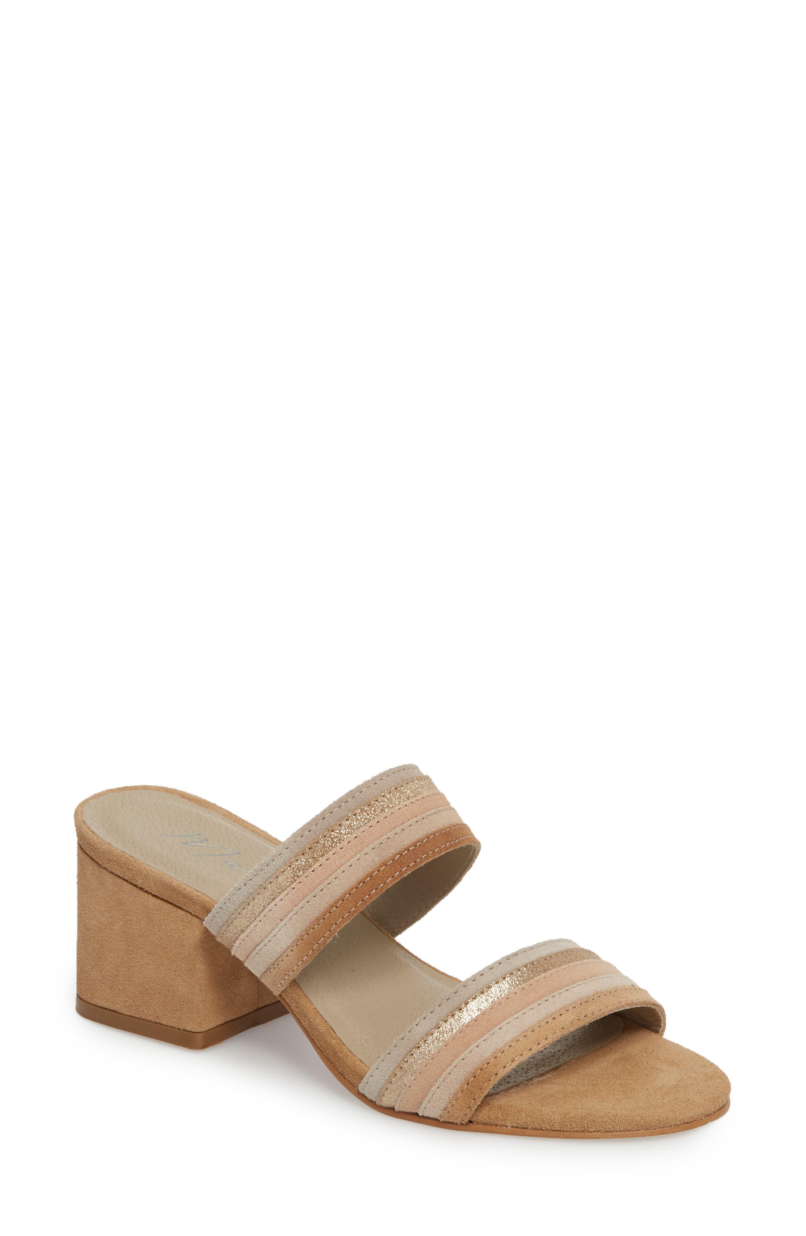 Bonita Slide Sandal,                         Main,                         color, Natural Suede