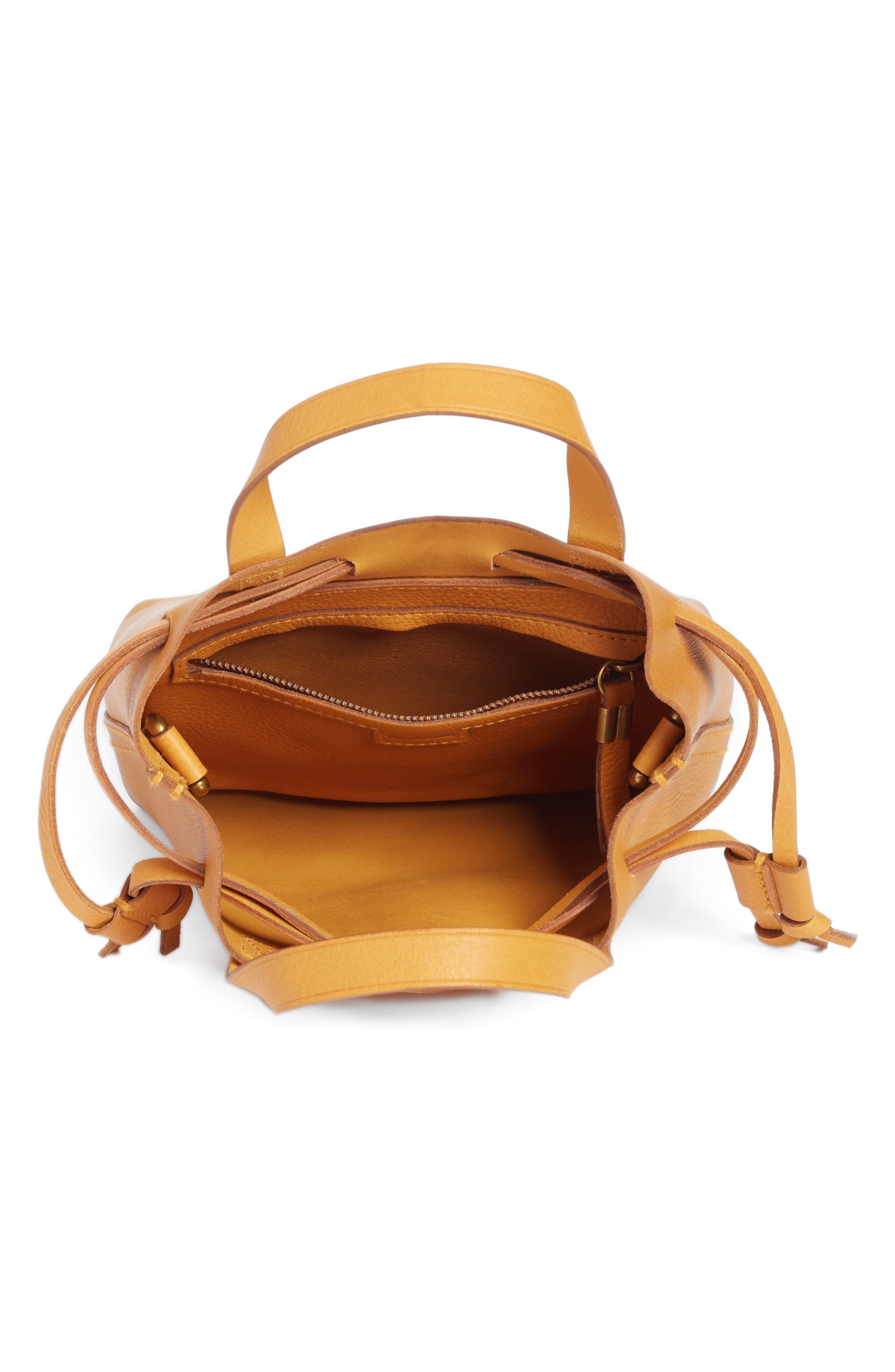 Alternate Image 3  - Madewell The Mini Pocket Transport Leather Drawstring Tote