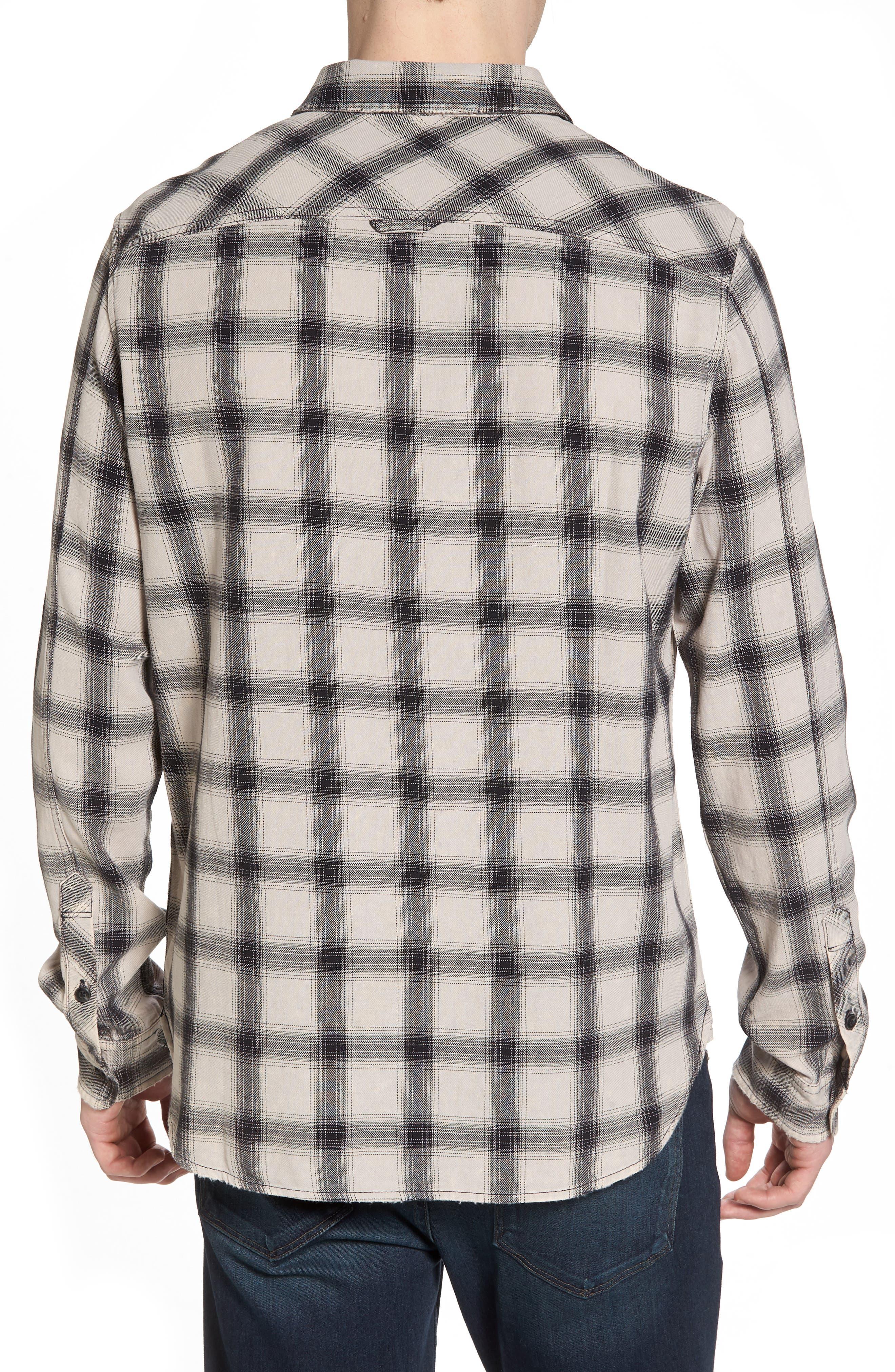 Colton Slim Fit Plaid Sport Shirt,                             Alternate thumbnail 2, color,                             15 Years Mineral Veil/ Black