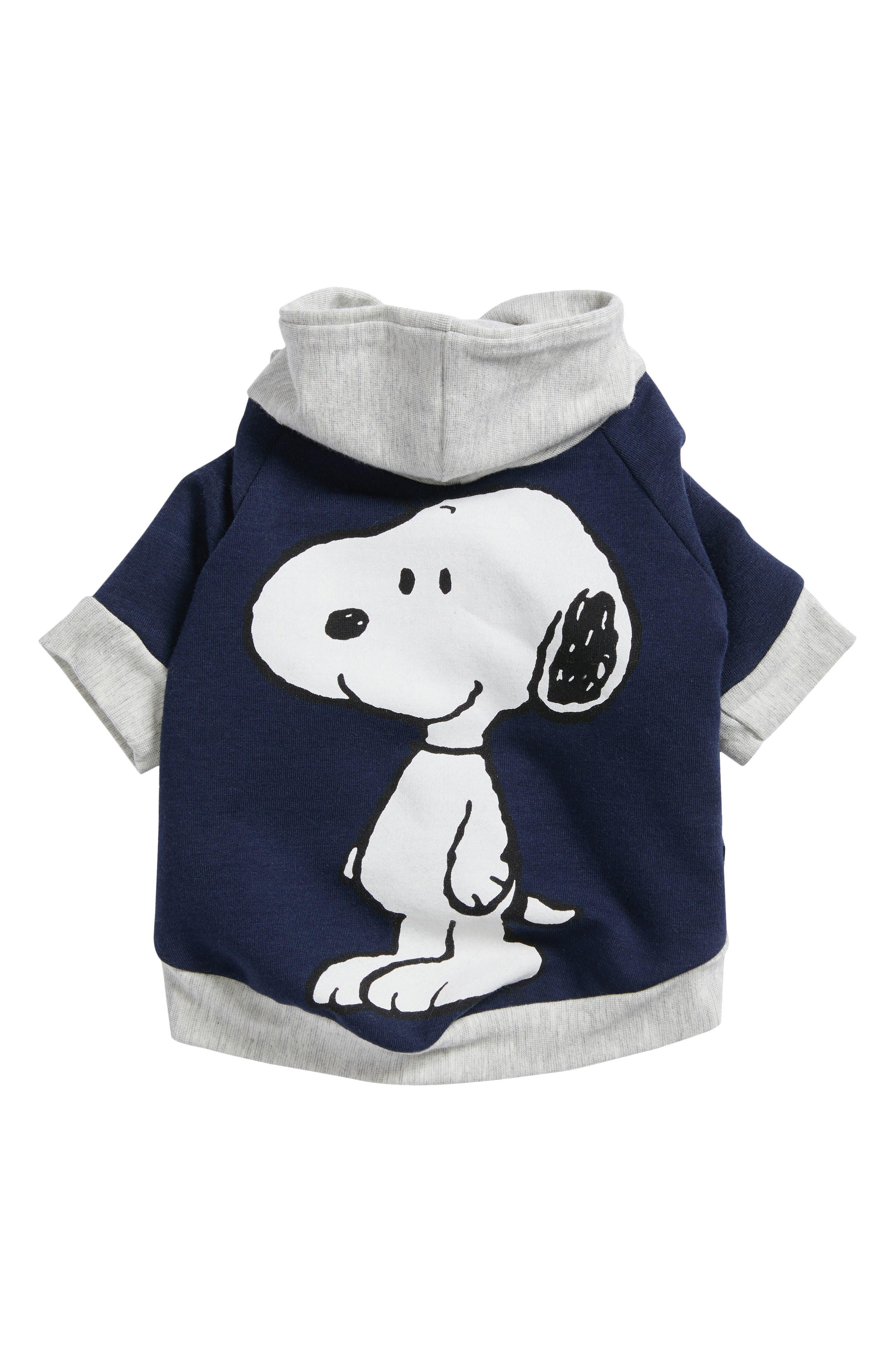 Snoopy Fleece Dog Hoodie,                         Main,                         color, Blue