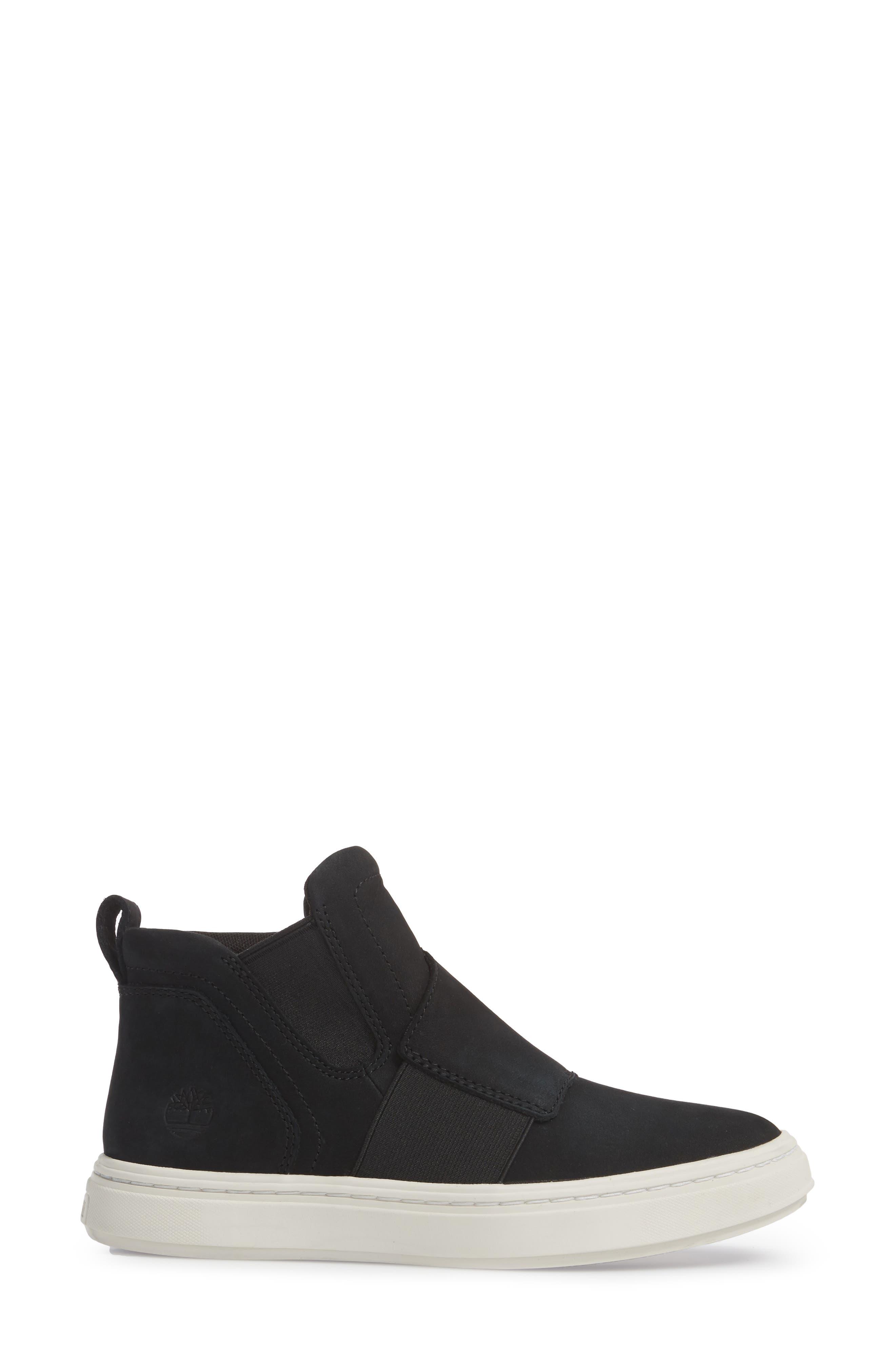 Londyn Chelsea Boot,                             Alternate thumbnail 3, color,                             Black Nubuck Leather