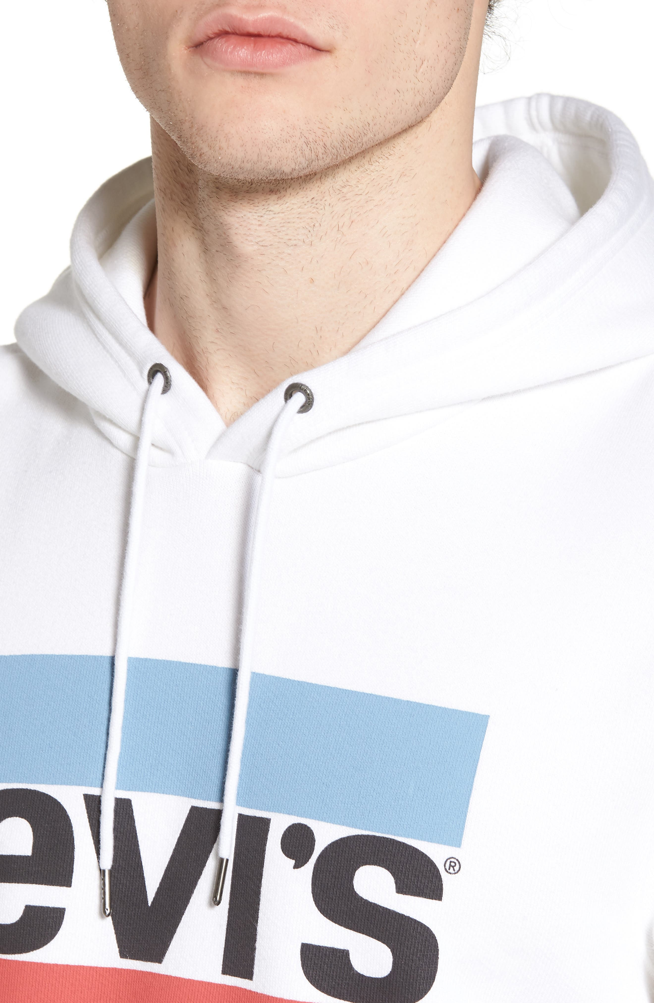 Graphic Hoodie Sweatshirt,                             Alternate thumbnail 4, color,                             Olympic White