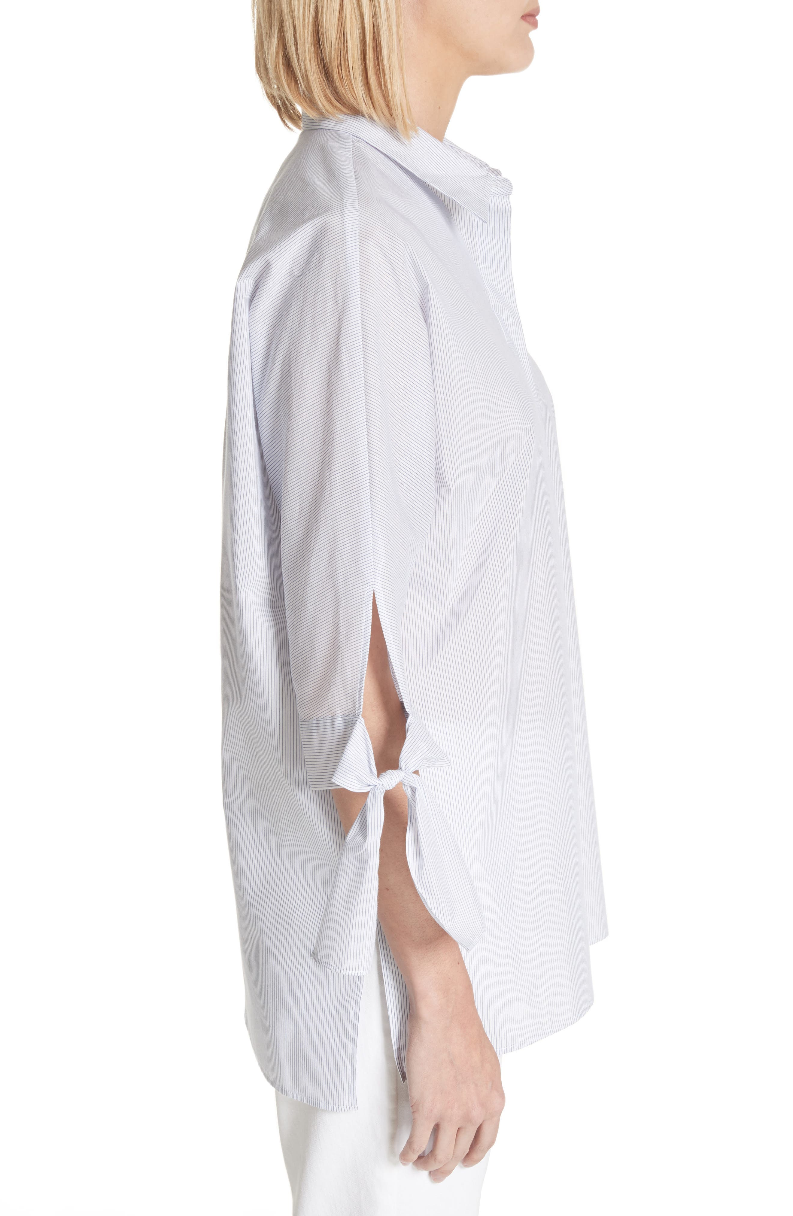 Breezy Stripe Saige Blouse,                             Alternate thumbnail 3, color,                             White Multi
