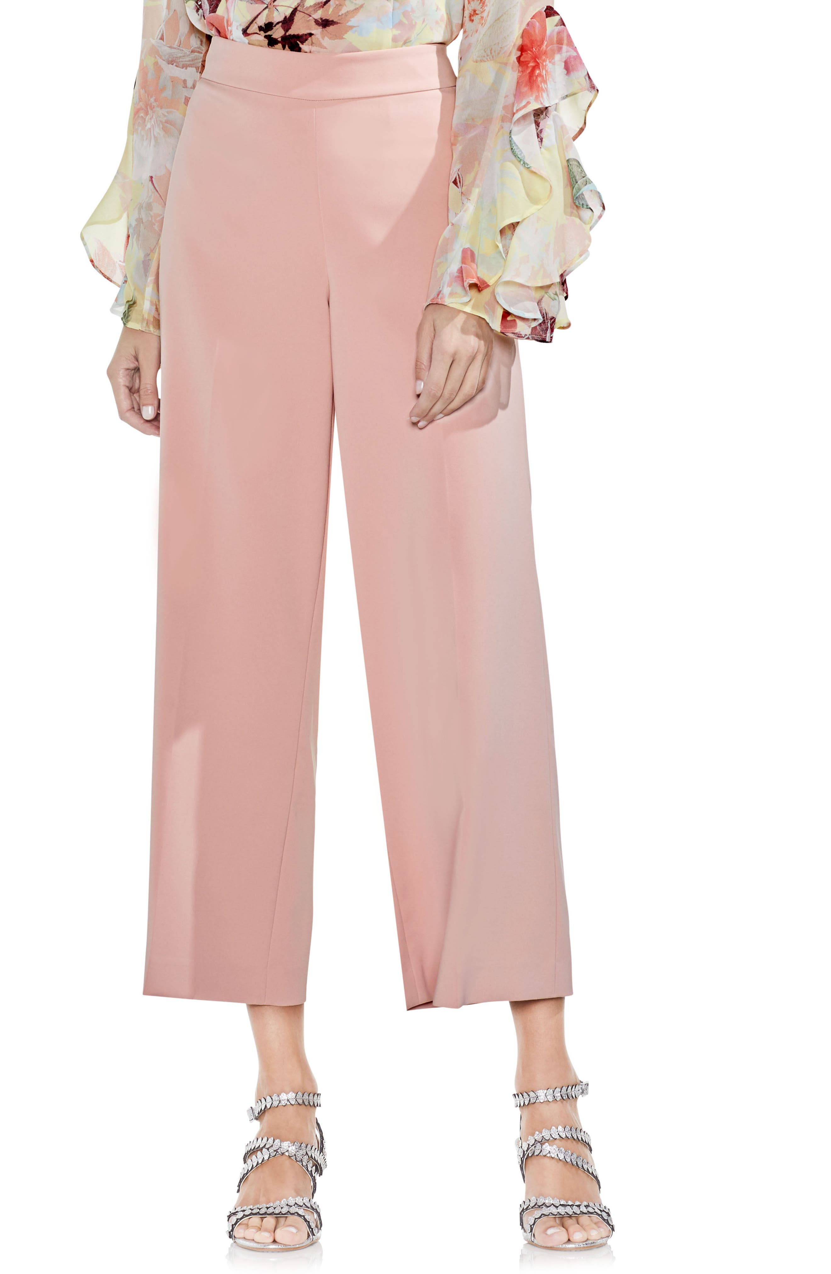 Vince Camuto High-Waist Crop Pants
