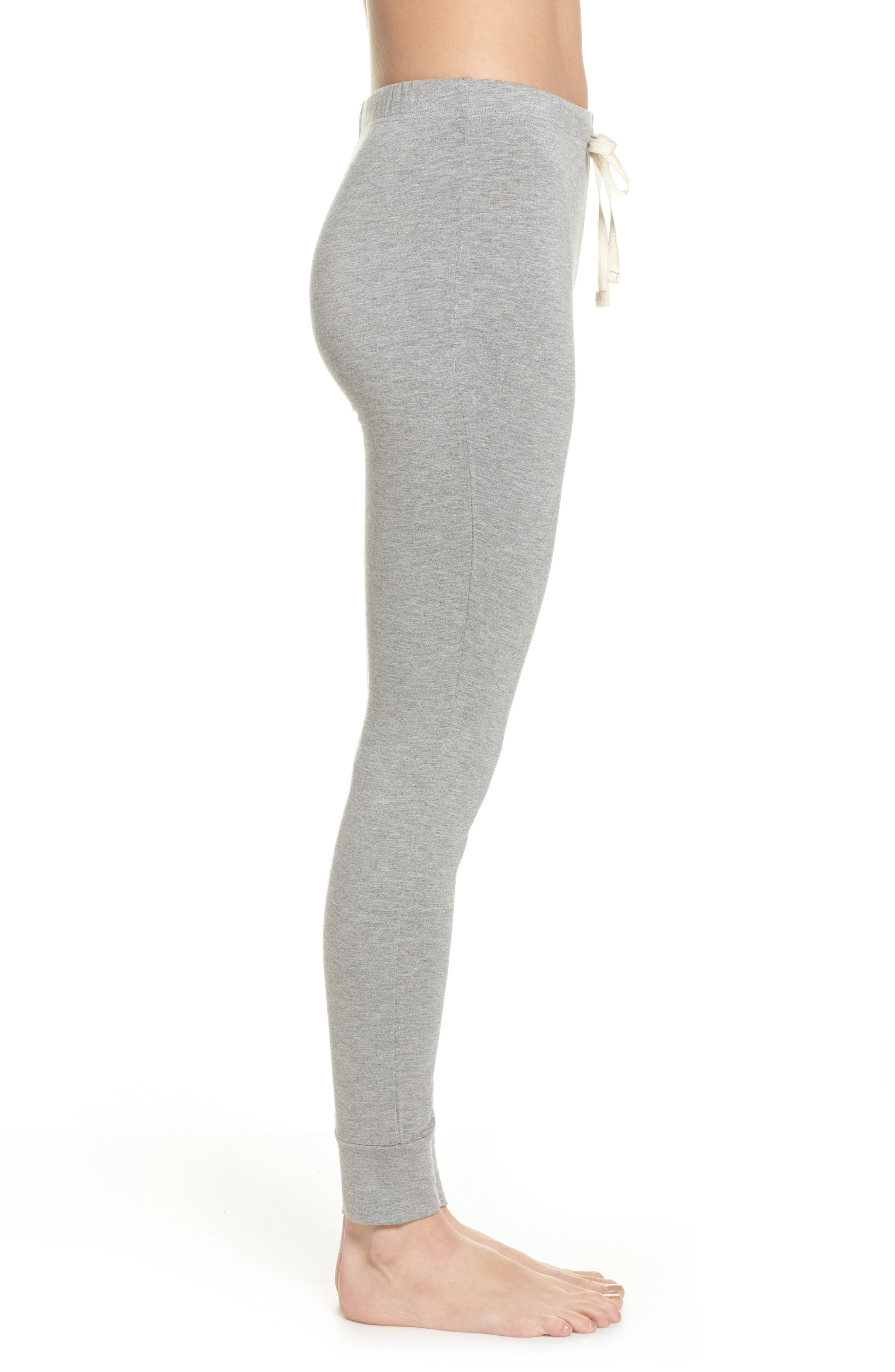 Kickin' It French Terry Lounge Pants,                             Alternate thumbnail 3, color,                             Heather Grey