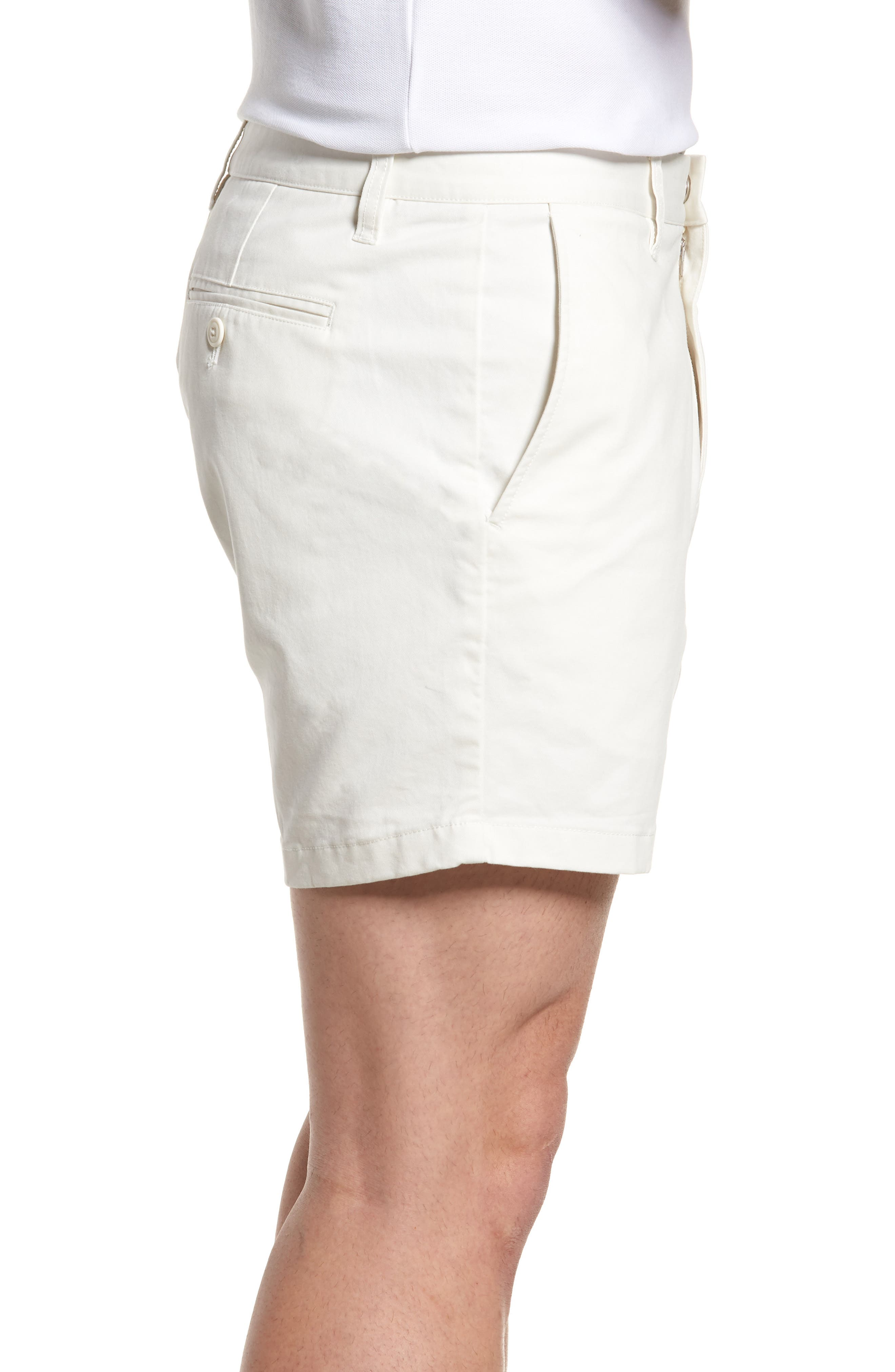 Stretch Washed Chino 5-Inch Shorts,                             Alternate thumbnail 3, color,                             Full Sail Off White