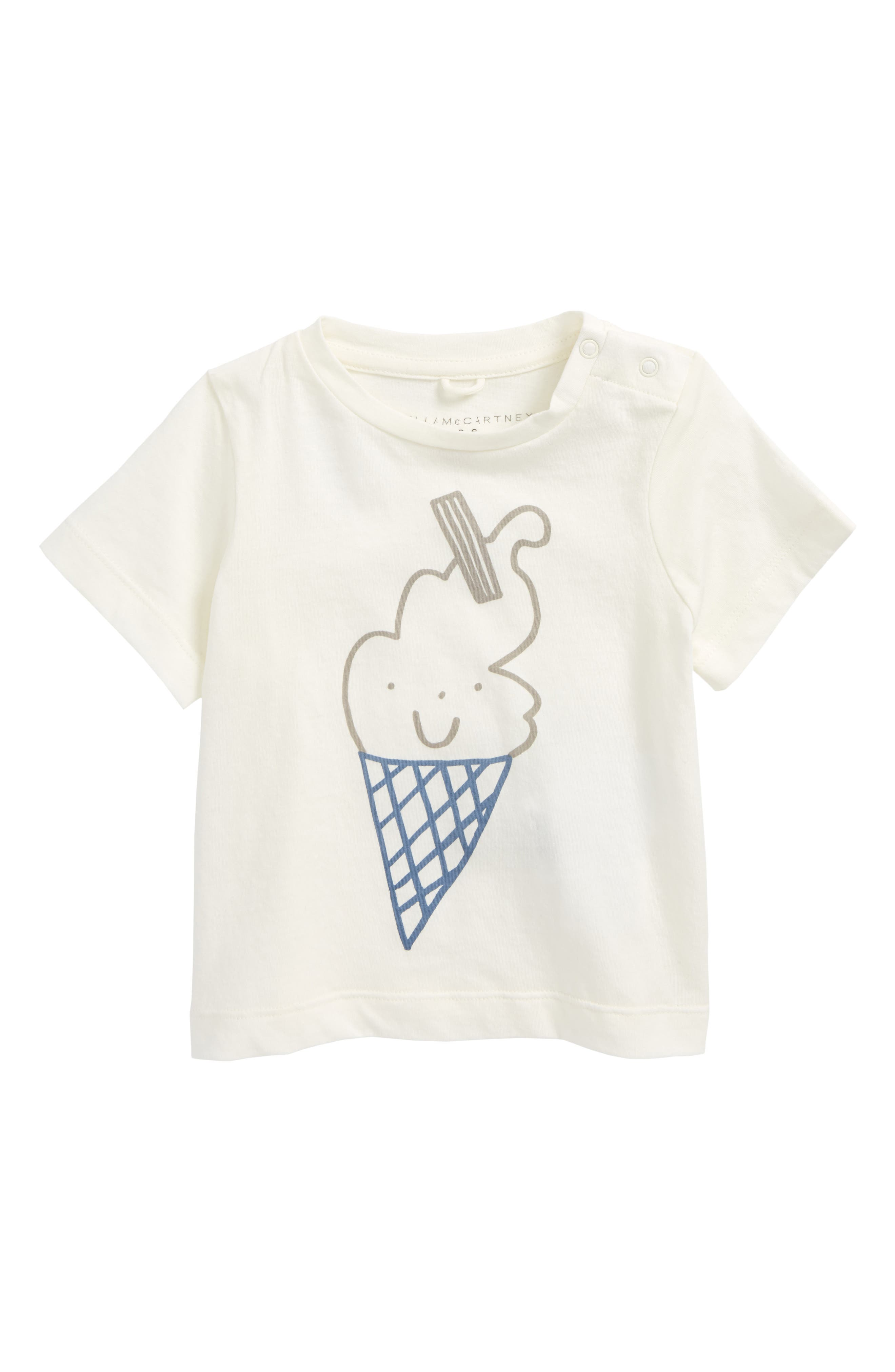 Stella McCartney Chuckle Smiley Ice Cream Cone T-Shirt (Baby)