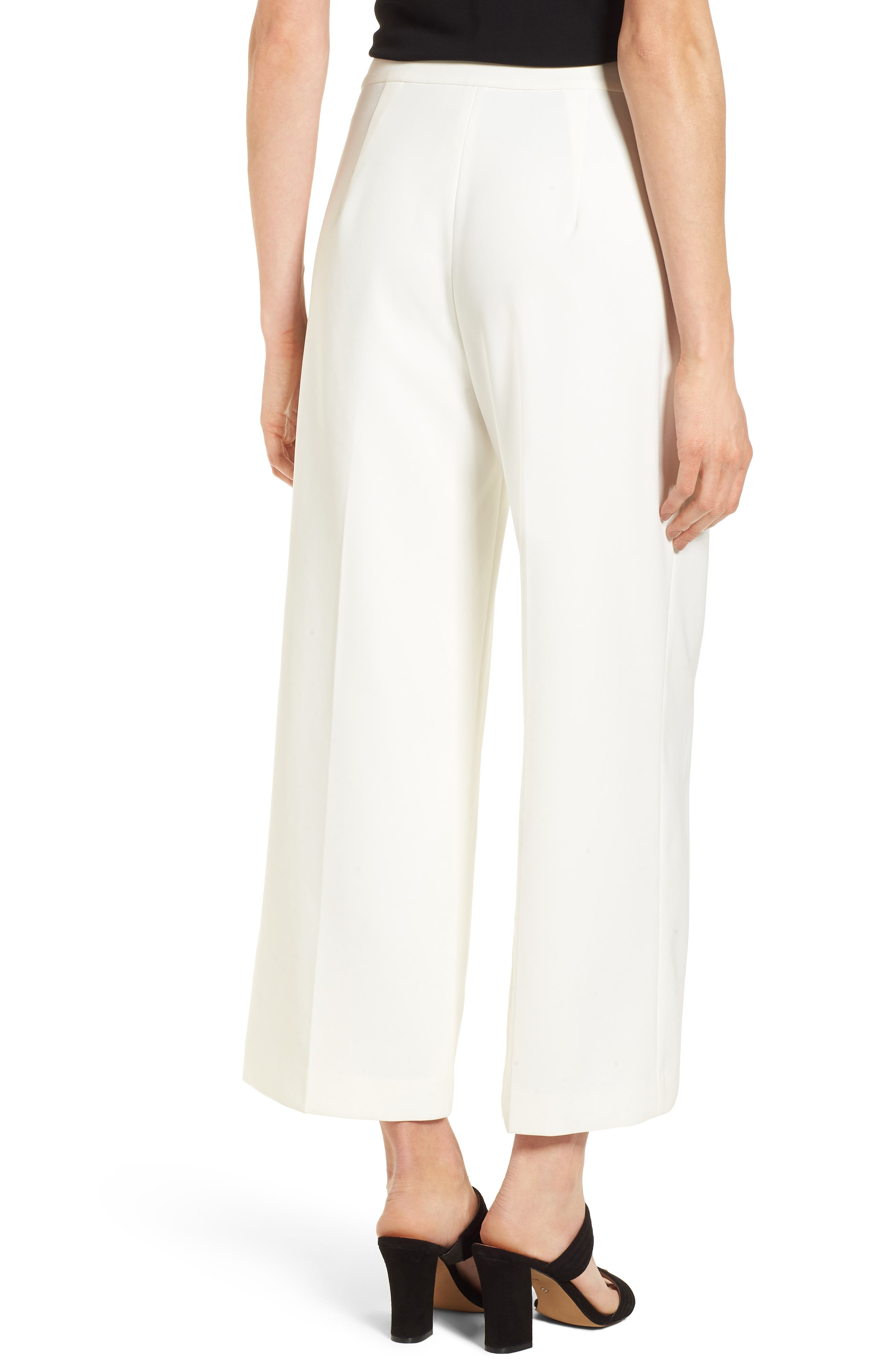High-Waist Crop Pants,                             Alternate thumbnail 2, color,                             New Ivory