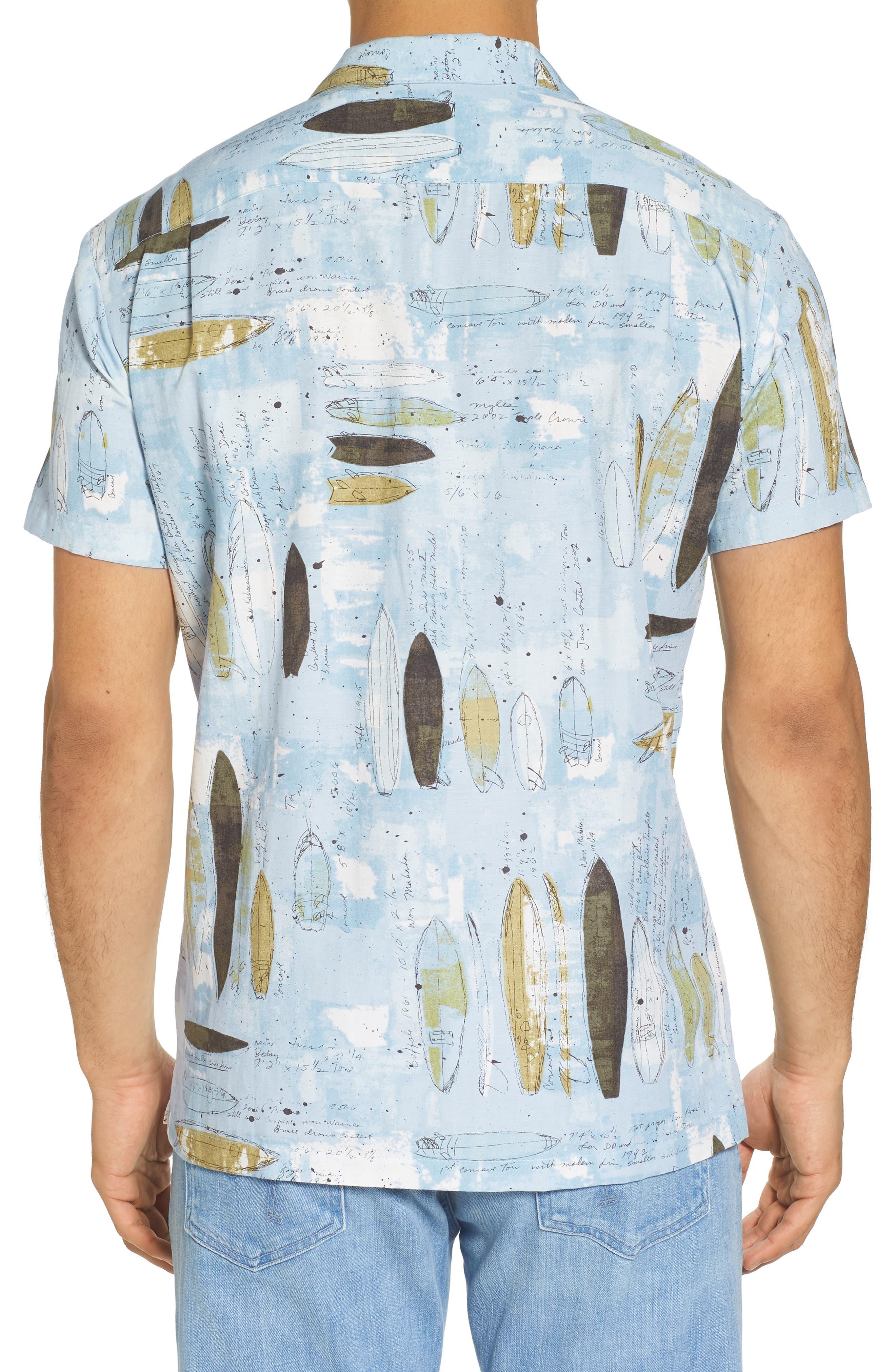Shaping Room Regular Fit Camp Shirt,                             Alternate thumbnail 2, color,                             Surf