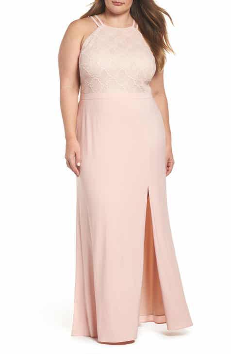 c5e3413948e13 Morgan & Co. Lace Bodice Gown (Plus Size)