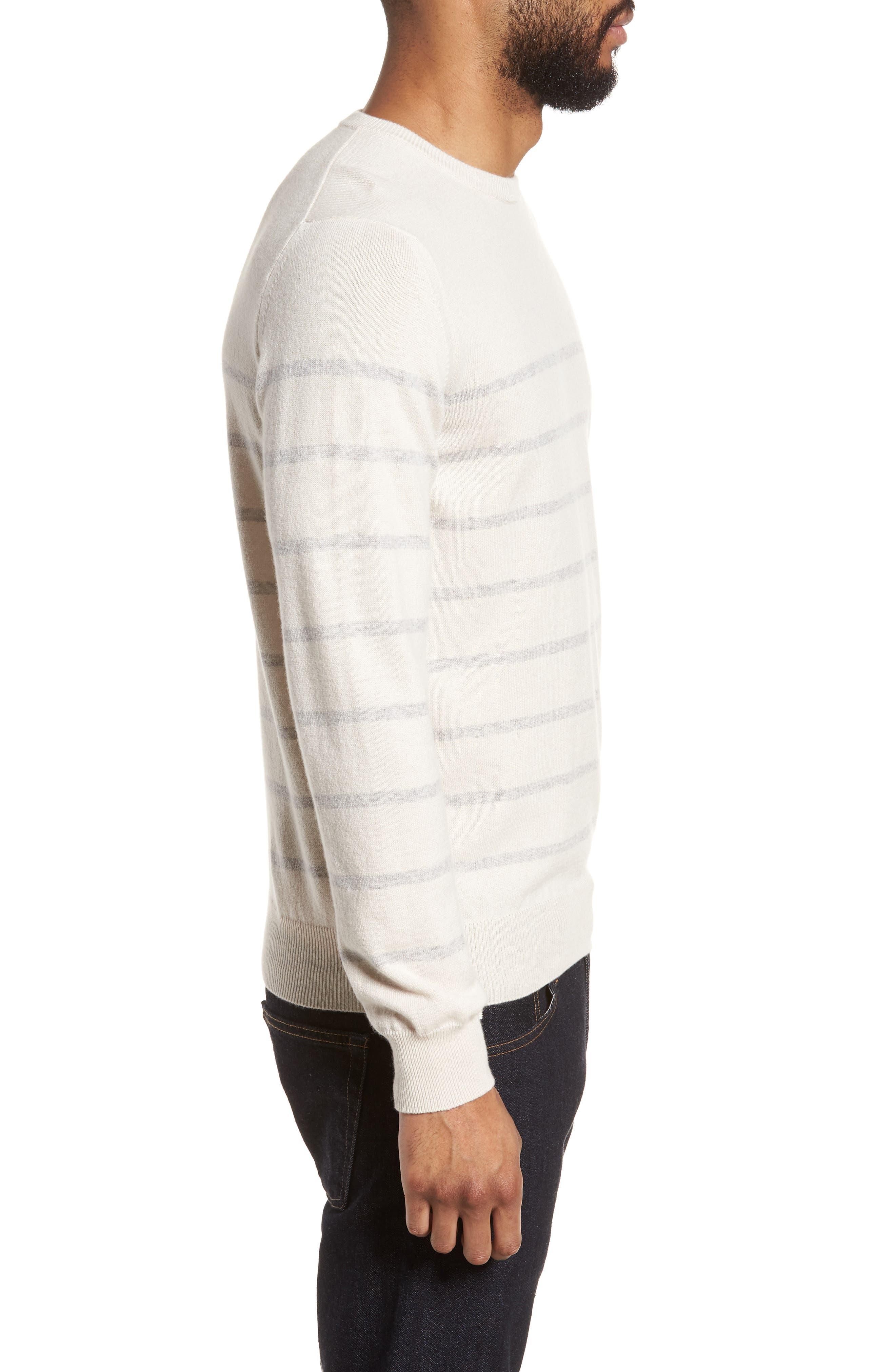 Cashmere Crewneck Sweater,                             Alternate thumbnail 3, color,                             Ivory